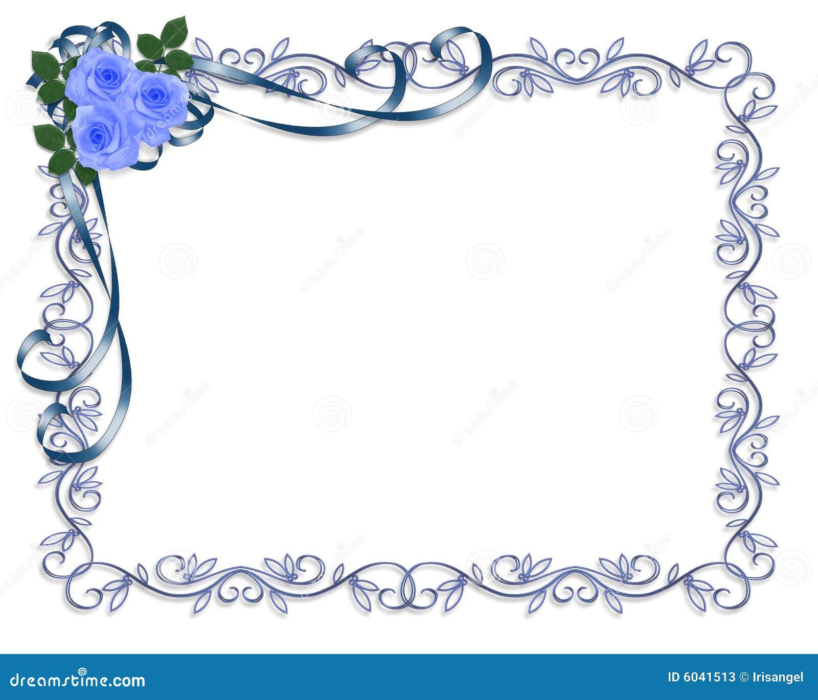 Rosas azules wedding la invitaci n o la tarjeta del d a de - Decoracion con marcos ...