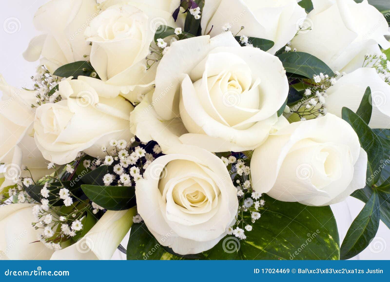 Белые розы на день рождения открытка 7418 70