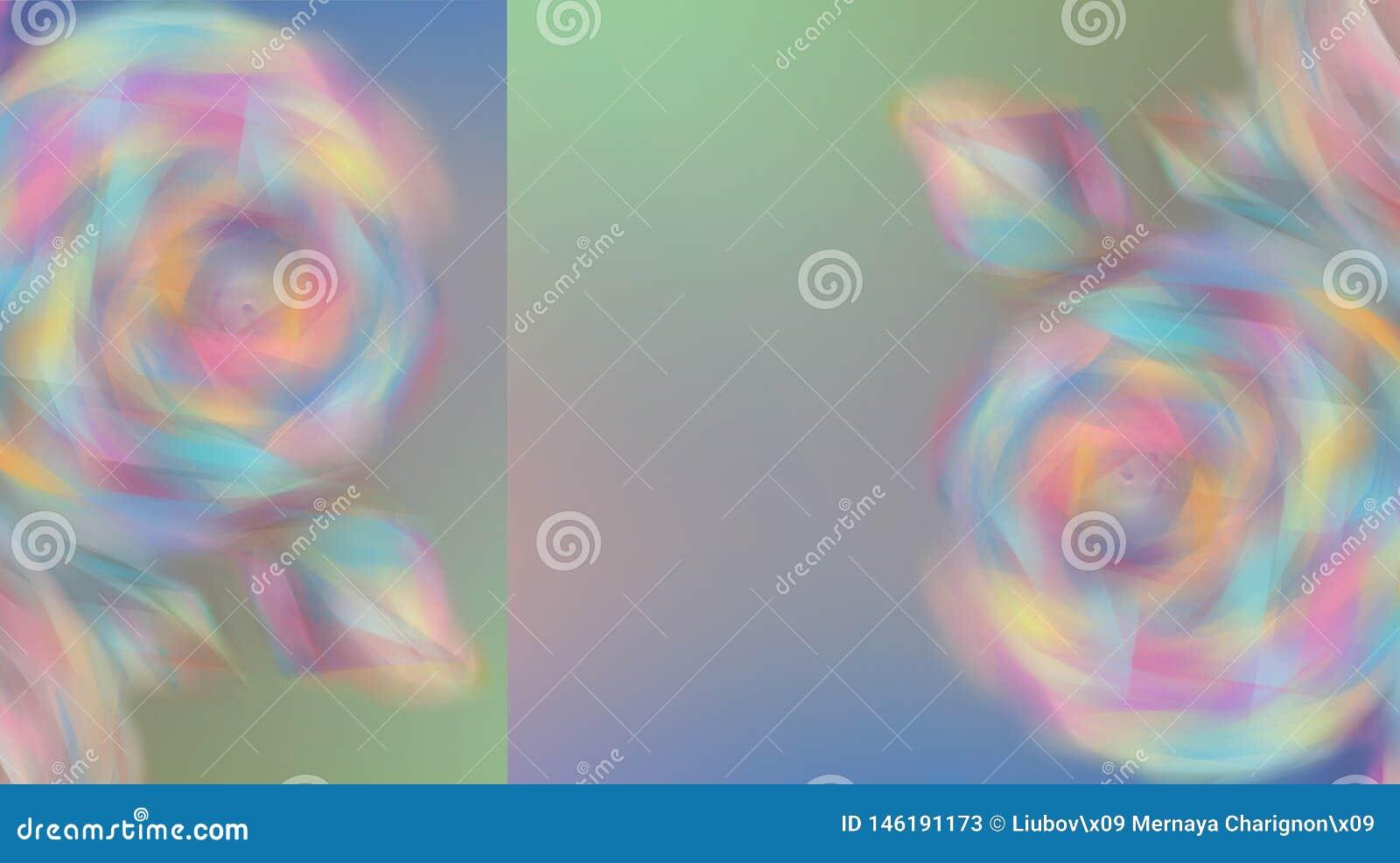 Rosas coloridas obscuras das flores em um fundo bonito da cor do arco-íris