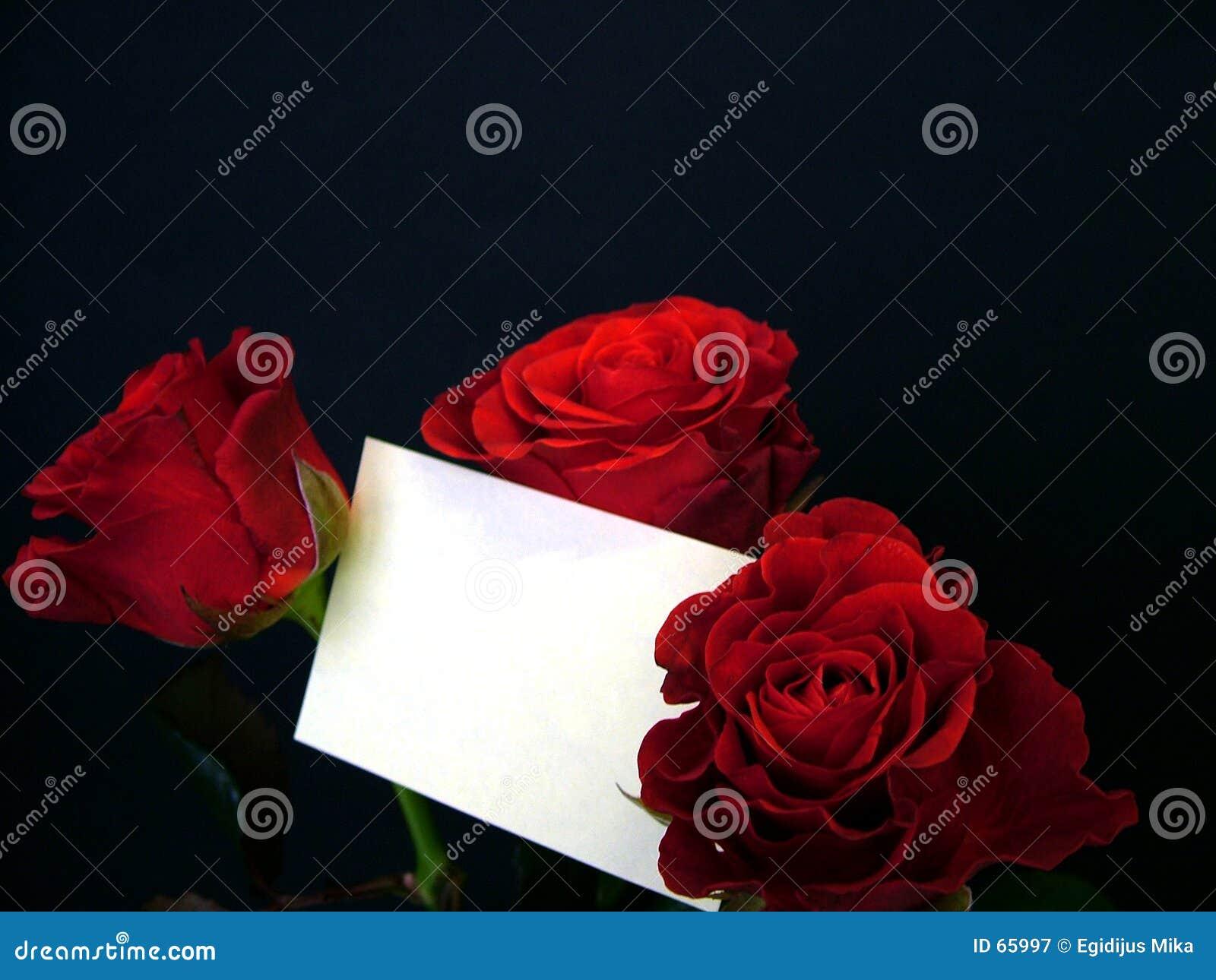 Rosas com cartão