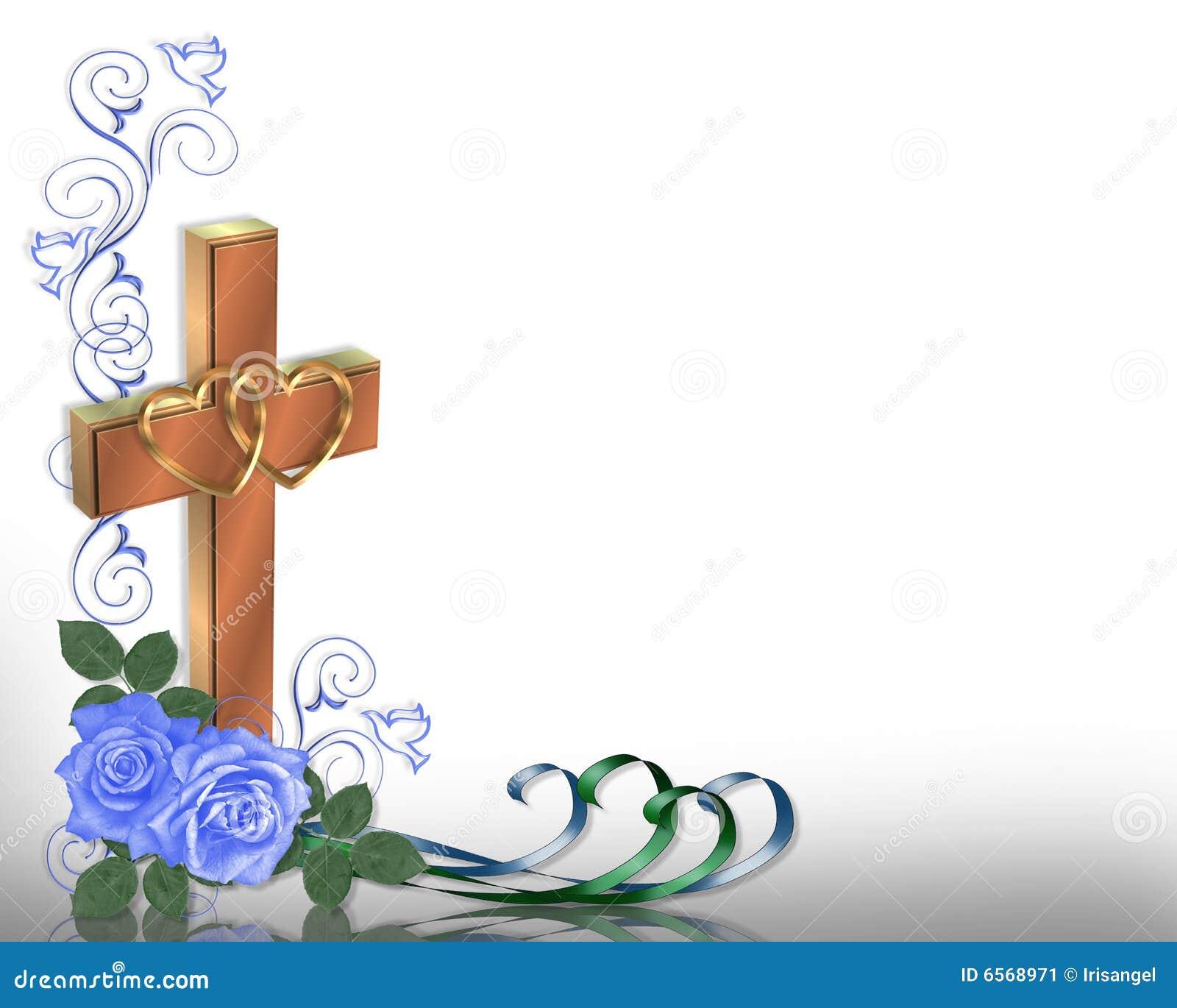 Border Christian Cross Wedding