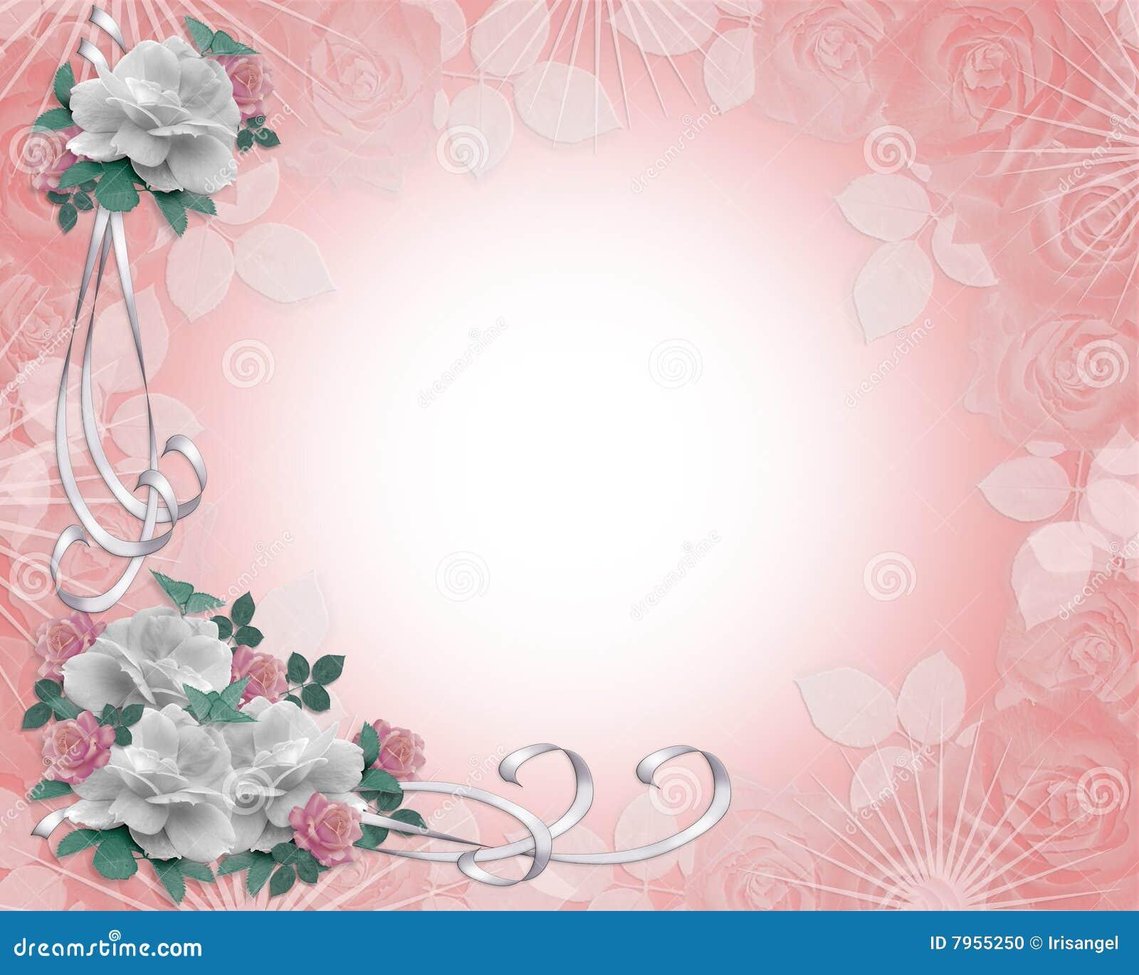 Rosas de la frontera de la invitación de la boda
