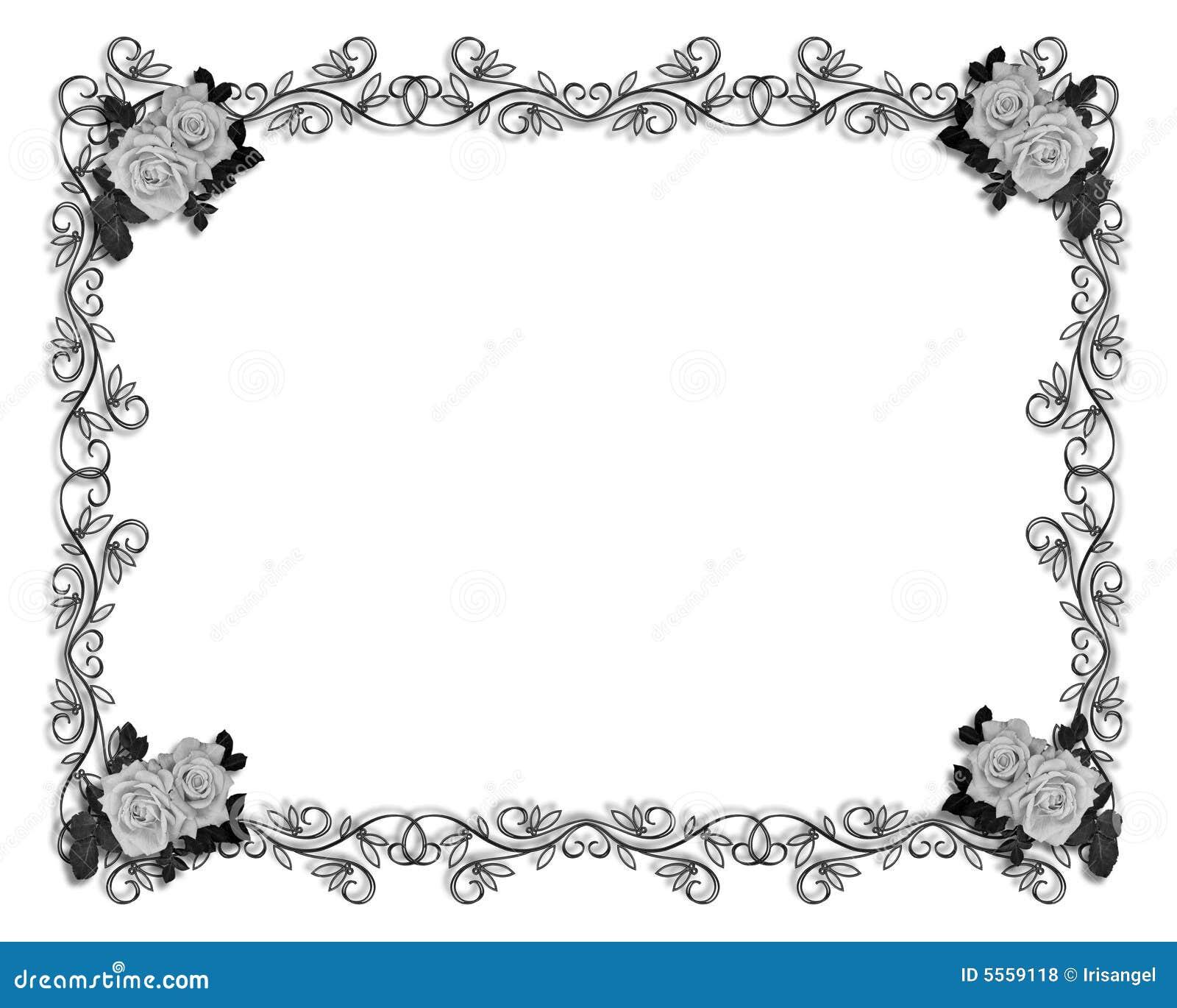 Rosas Do Convite Do Casamento Ou Do Partido Fotos de Stock ...