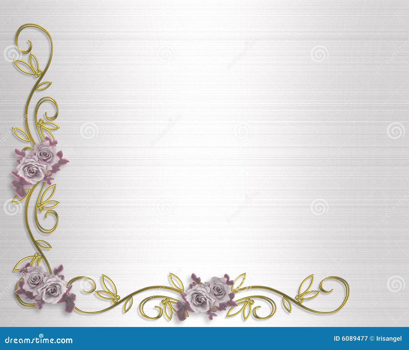 Rosas Do Convite Do Casamento Ou Do Partido Fotografia de ...