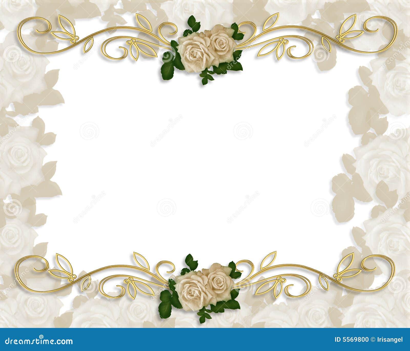 Rosas Do Victorian Que Wedding O Convite Foto De Stock