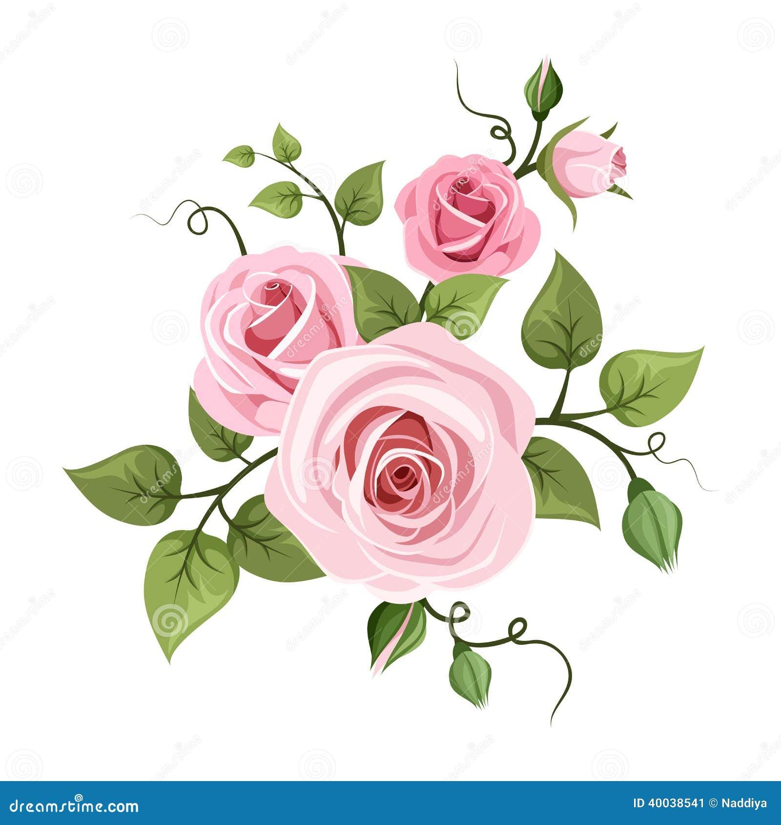 Gray Wall Color Rosas Rosadas Ejemplo Del Vector Ilustraci 243 N Del Vector
