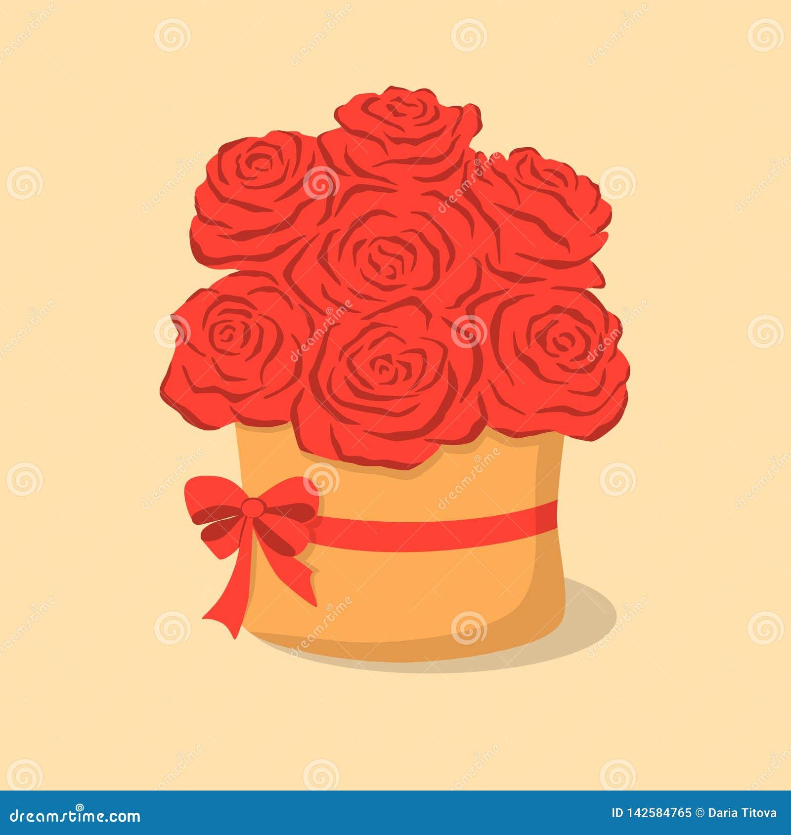Rosas vermelhas na caixa