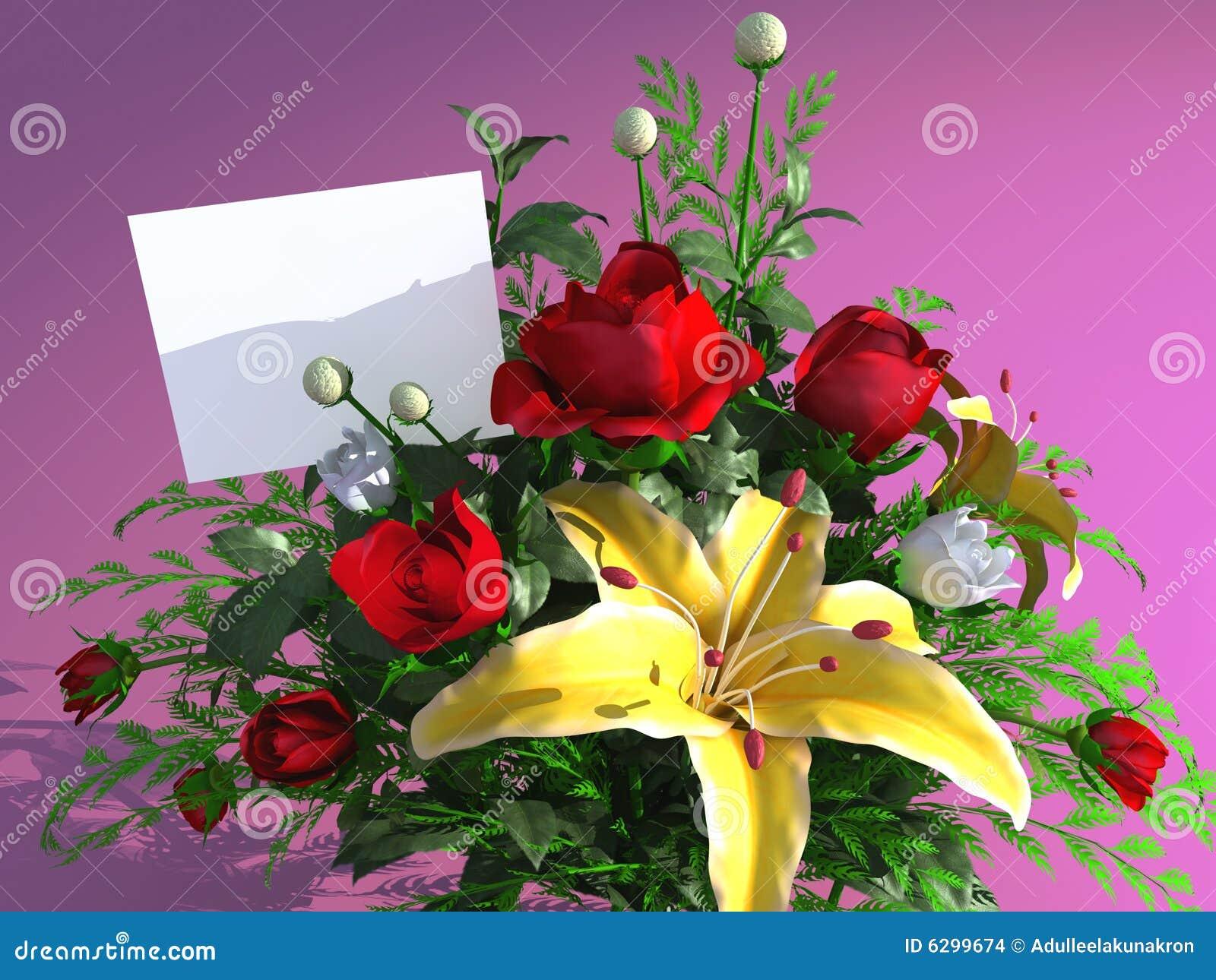 Rosas y tarjeta vacía