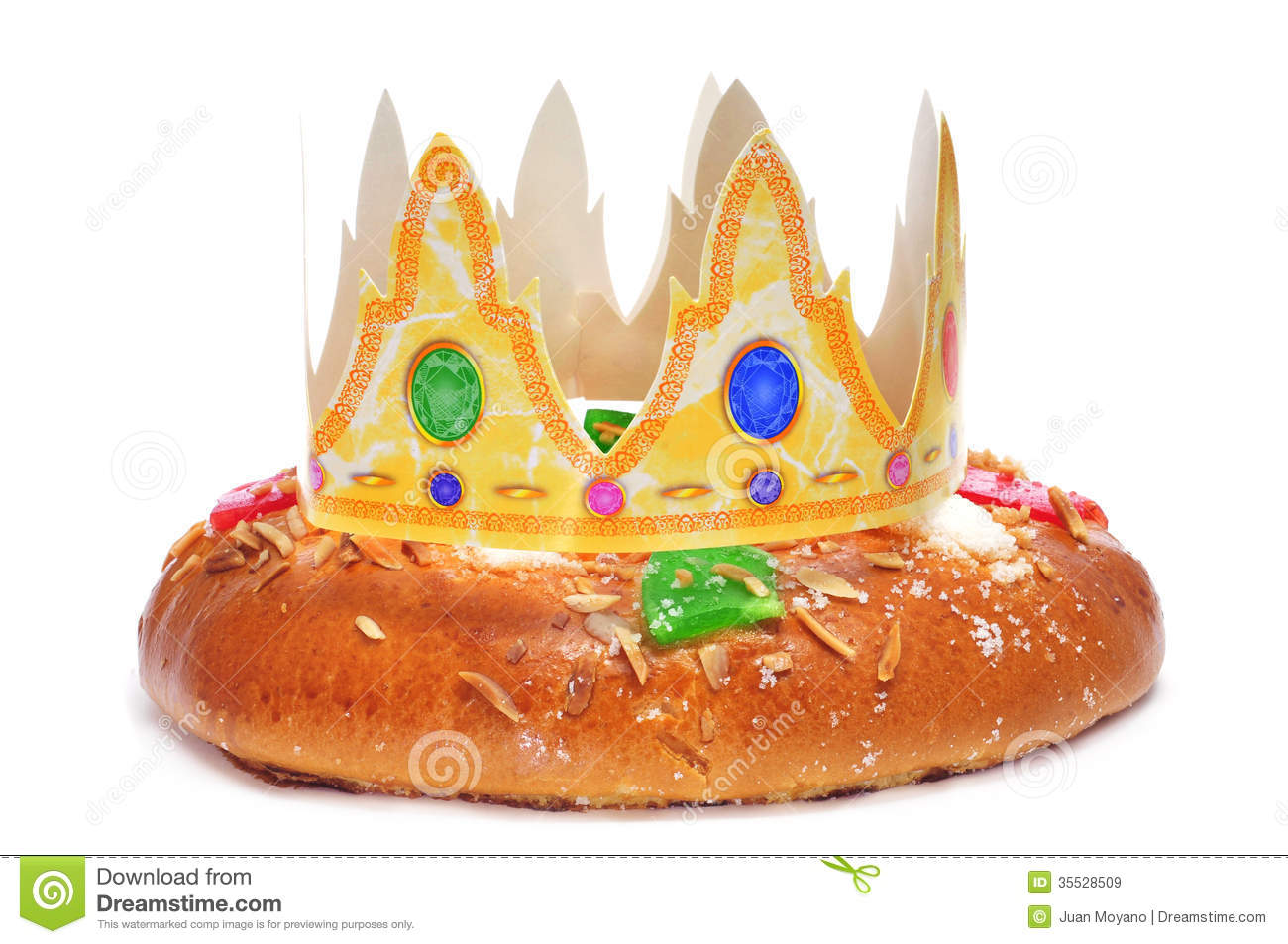 Roscon De Reyes, Spanish Three Kings Cake Stock Image