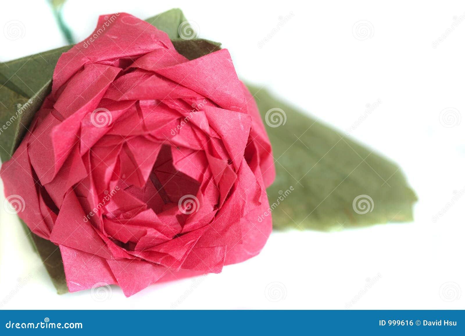Rose övre för tät origami