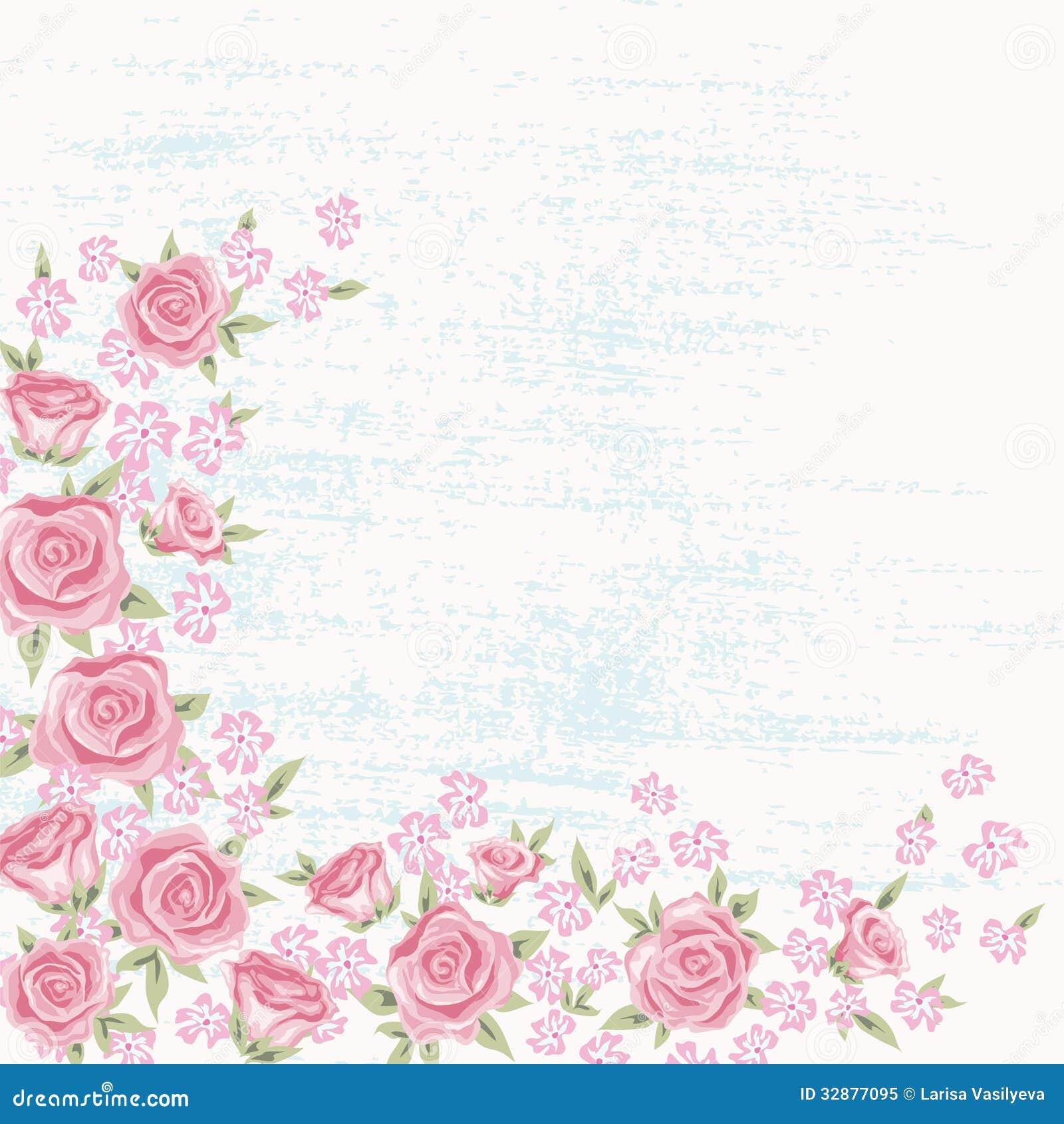 Rose Background 5 Stock Vector Illustration Of Frame