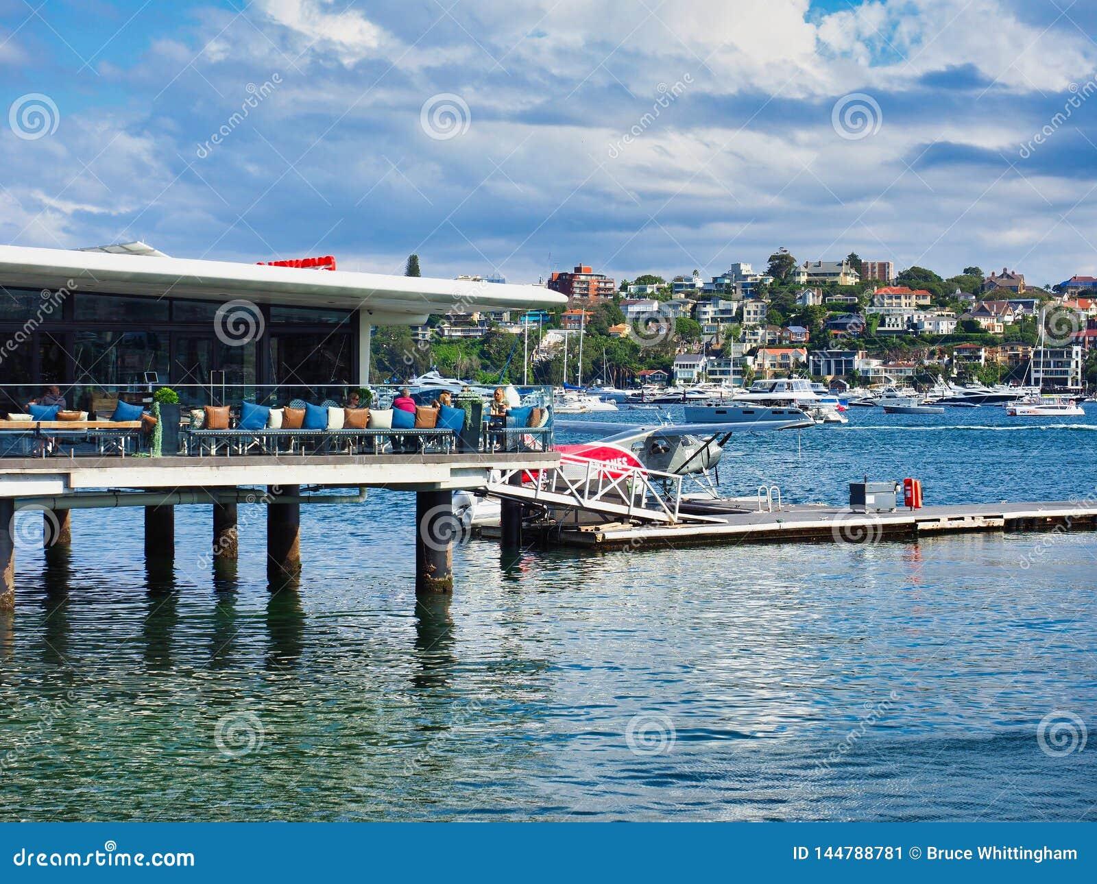 Rose Bay Sea Plane Base en Koffie, Sydney, Australië