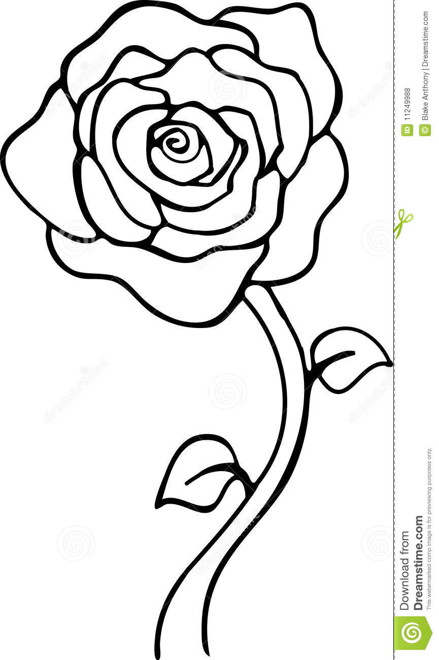 clipart roses black and white - photo #29