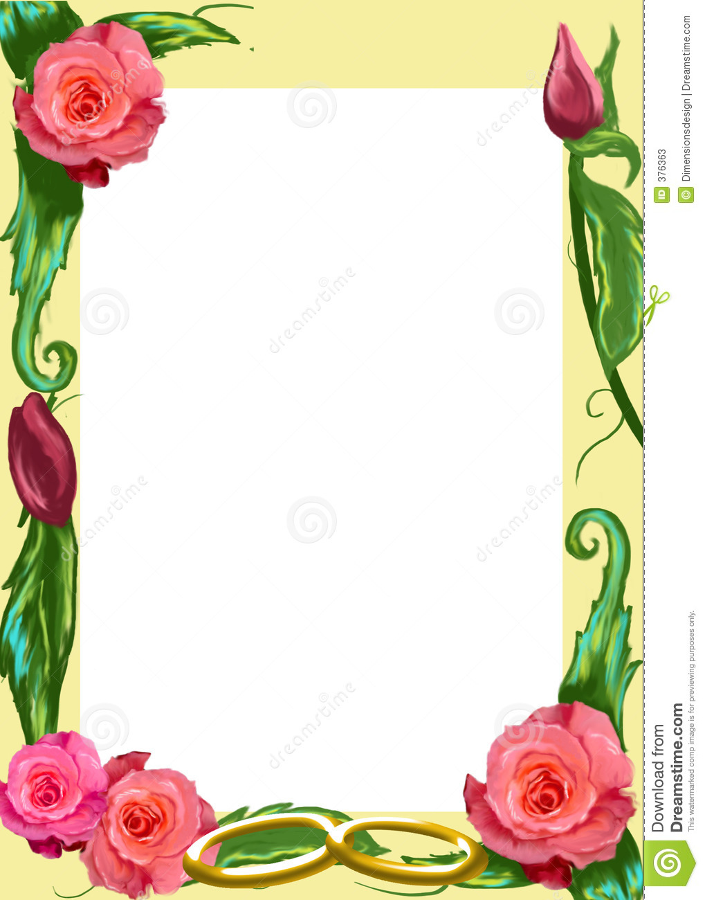Book Cover Design With Flowers : Rose border stock photos image
