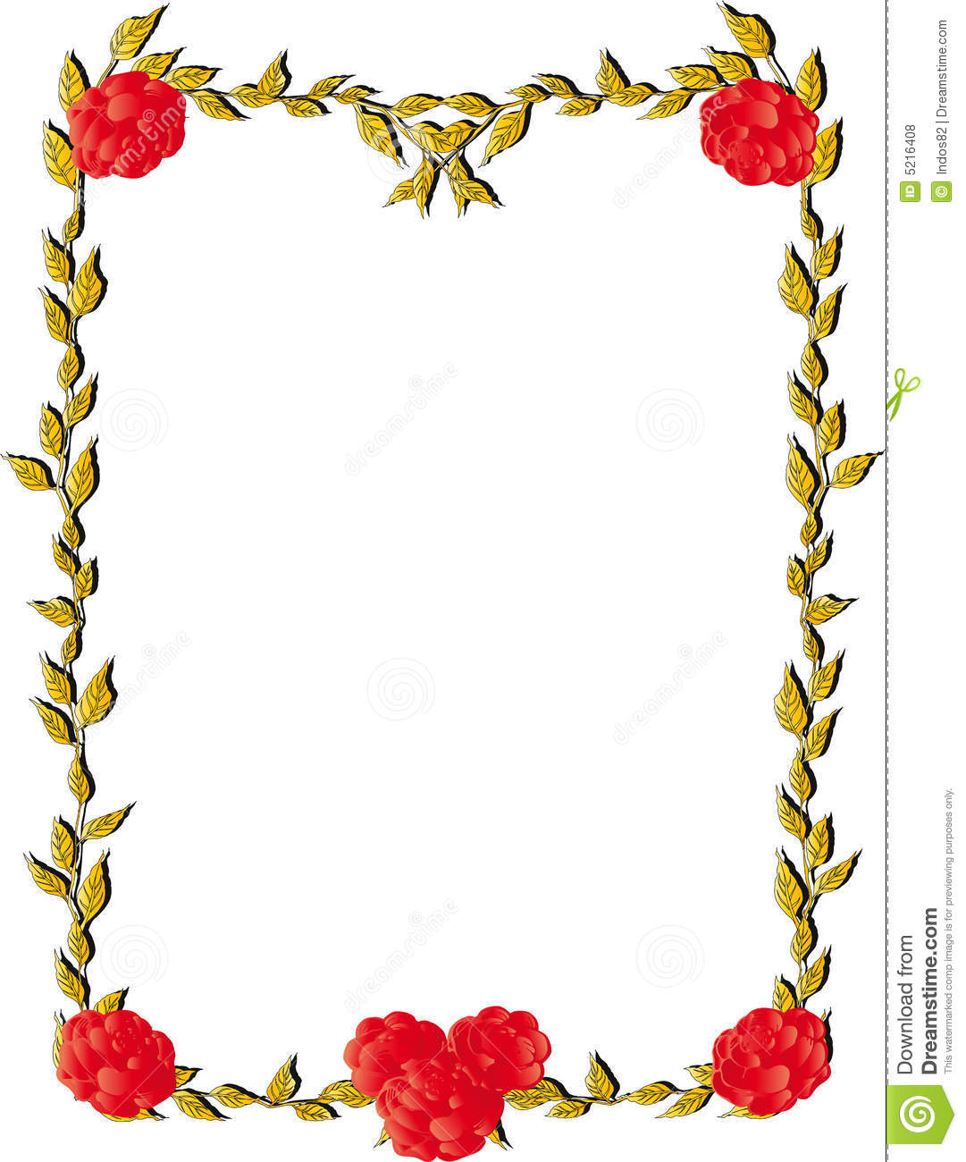 Rose Border Illustration Royalty Free Stock Photos Image