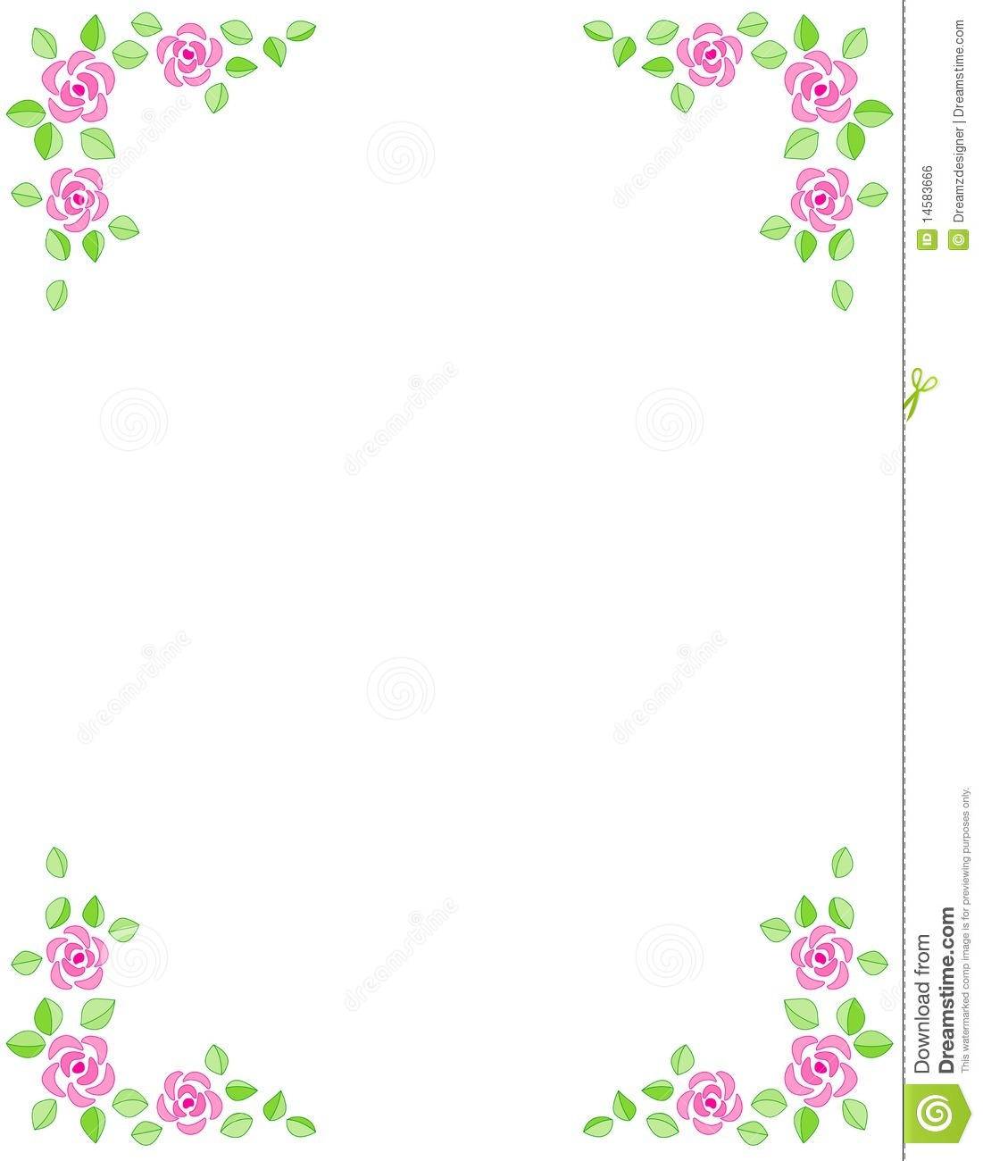 Rose Border / Wedding Invitation