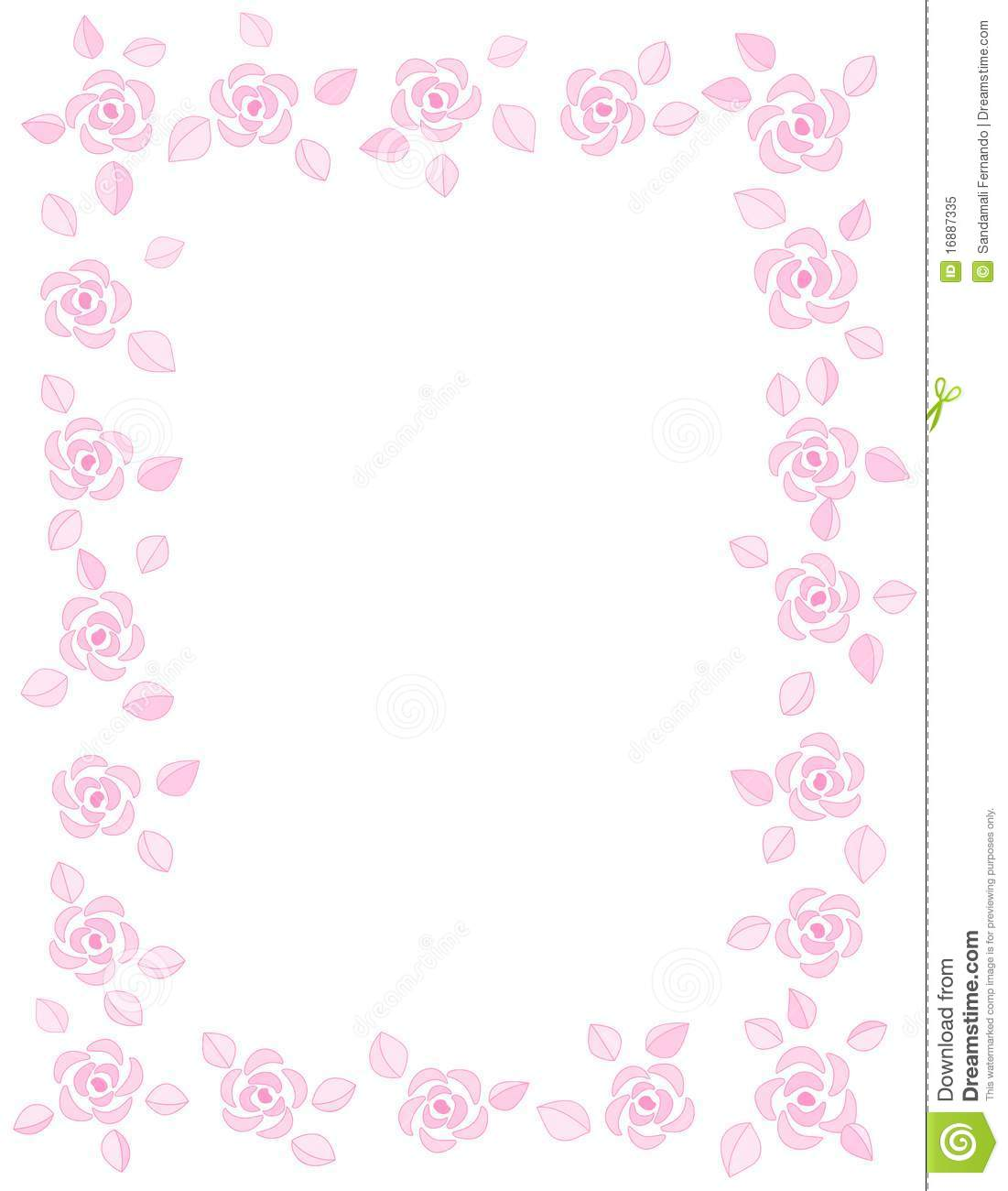 Rose Border / Wedding Invitation Stock Vector - Image: 16887335