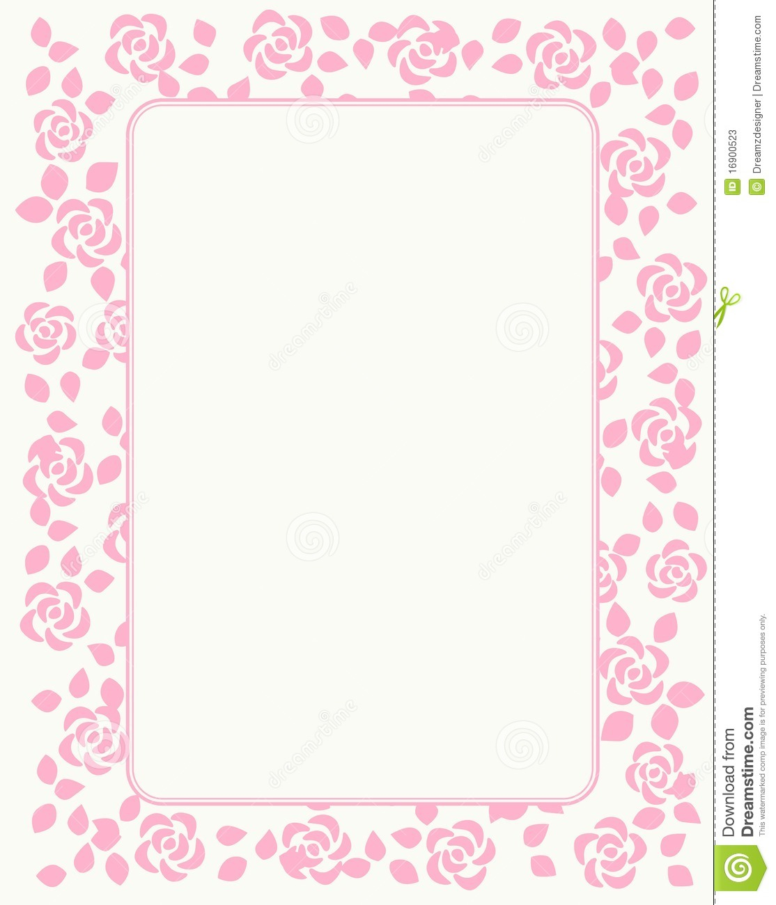 Rose border with beautiful pink roses. for Birthday , motheru0026#39;s day ...