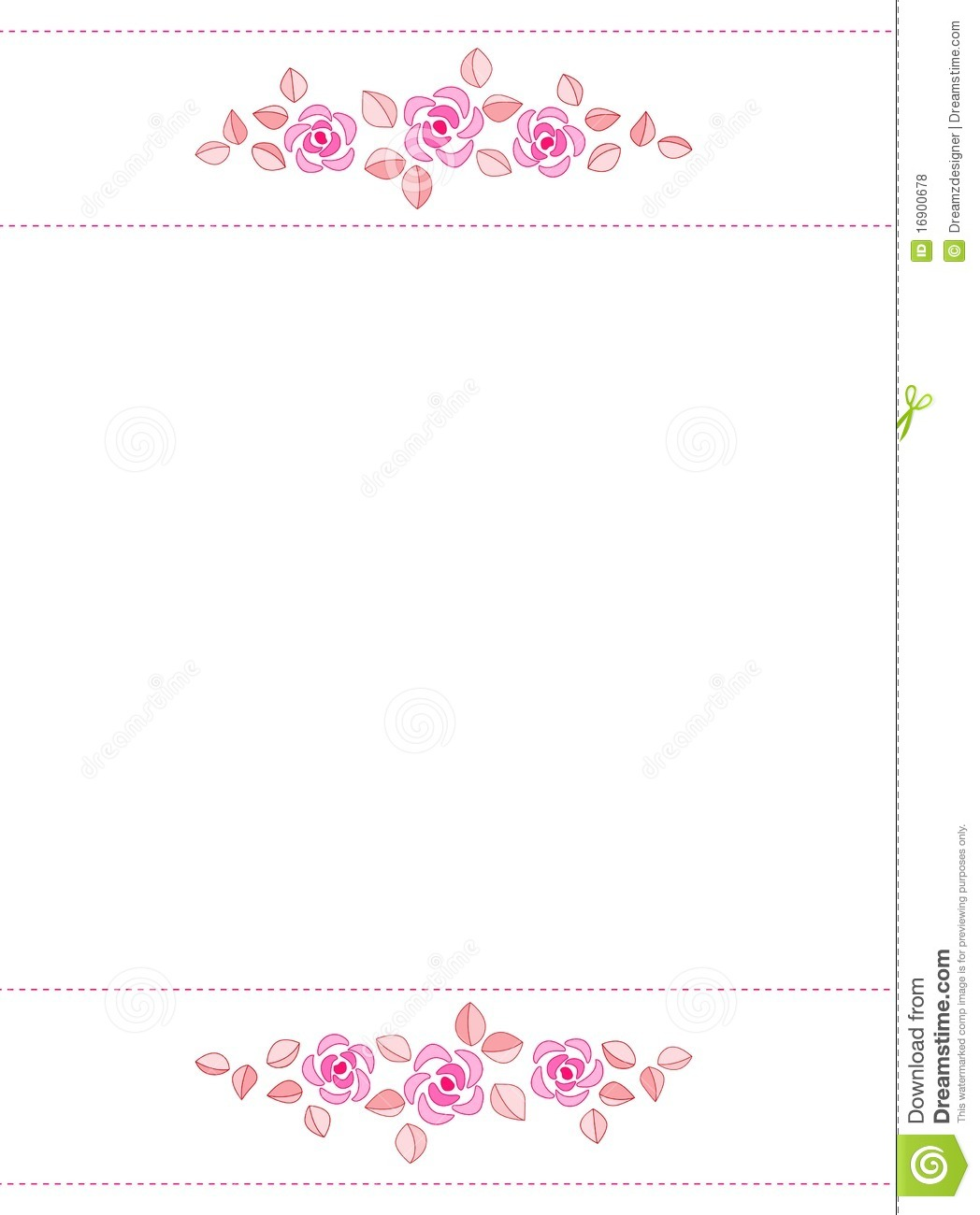 Rose Border / Wedding Invitation Stock Illustration - Illustration ...