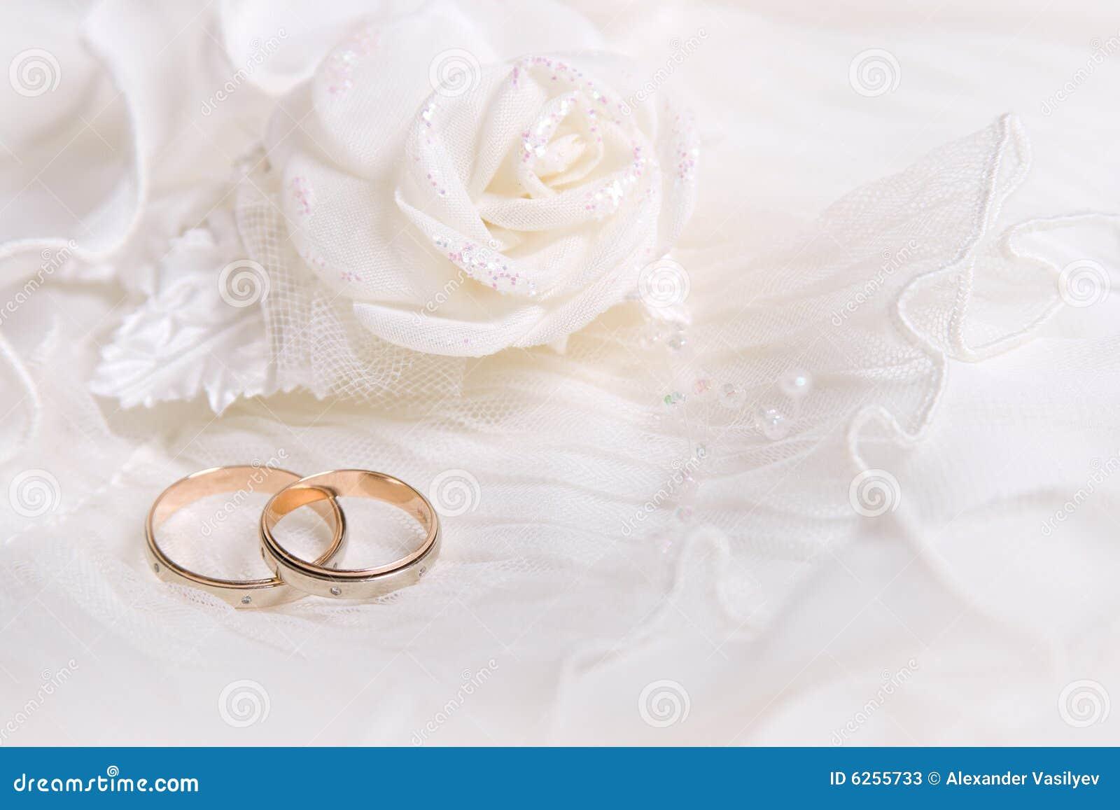 Rose bröllopwhite för cirklar