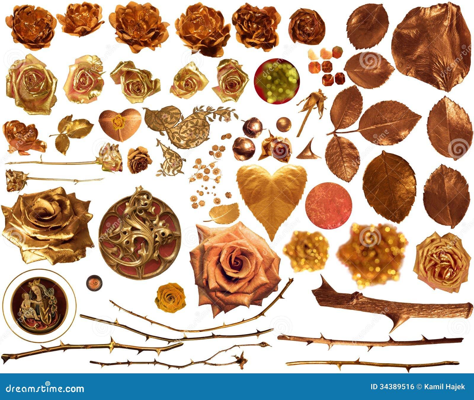 Rose Collection dourada