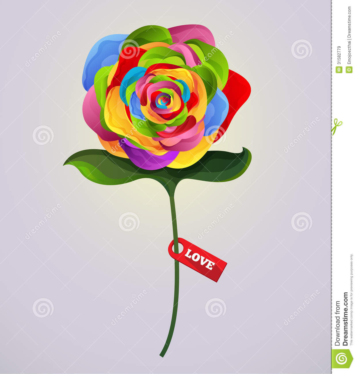 how to draw a colorful rose