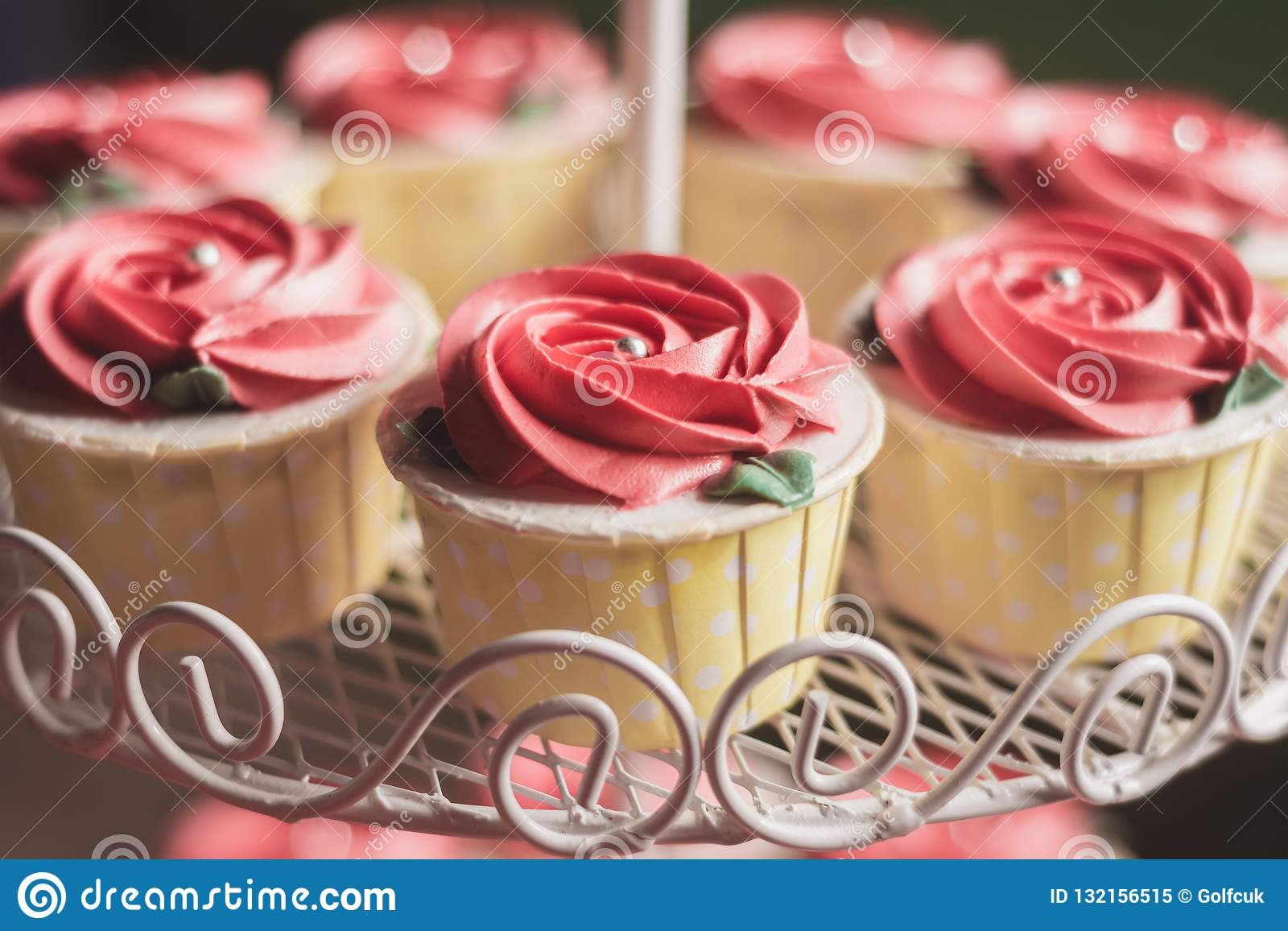 Rose Cupcake Wedding