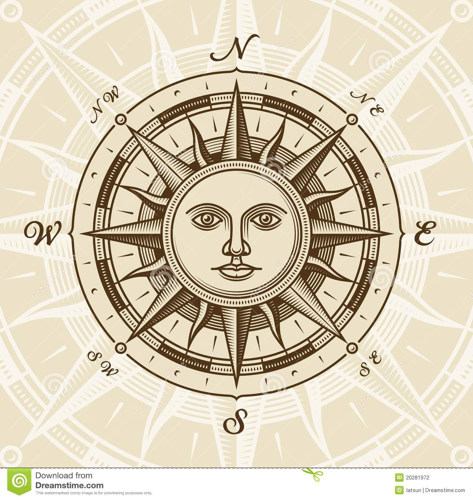 Rose de compas du soleil de cru