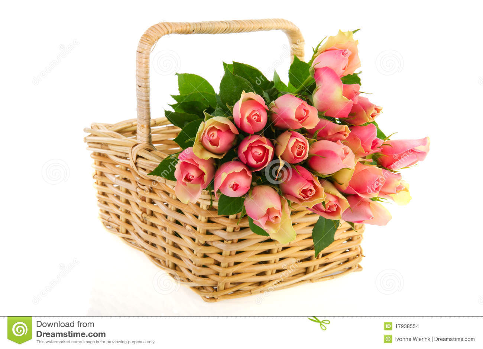 Rose dentellare del mazzo nel cestino della canna for Disegni del mazzo del cortile
