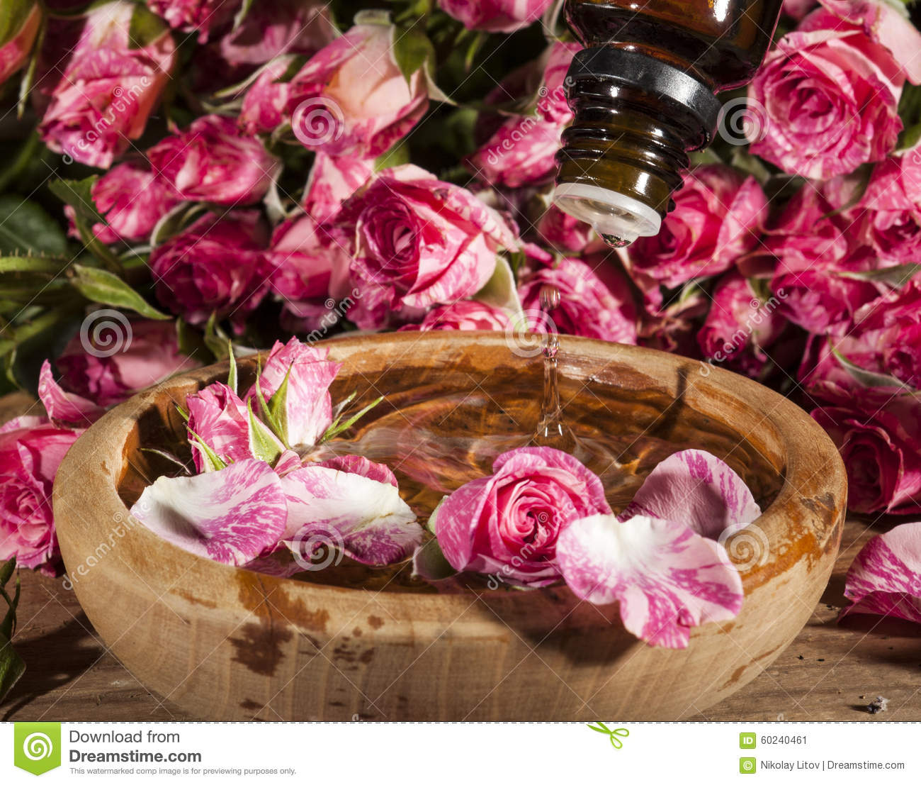 Rose essential oil stock photo image 60240461 - Rose essential oil business ...