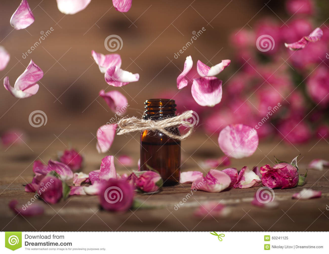 Rose essential oil stock photo image 60241125 - Rose essential oil business ...