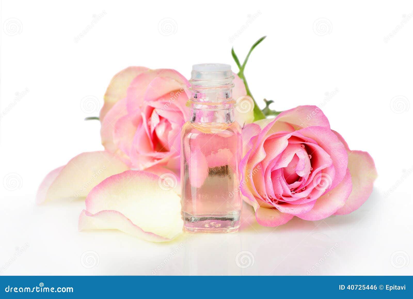 Rose Essential Oil Stock Photo Image 40725446