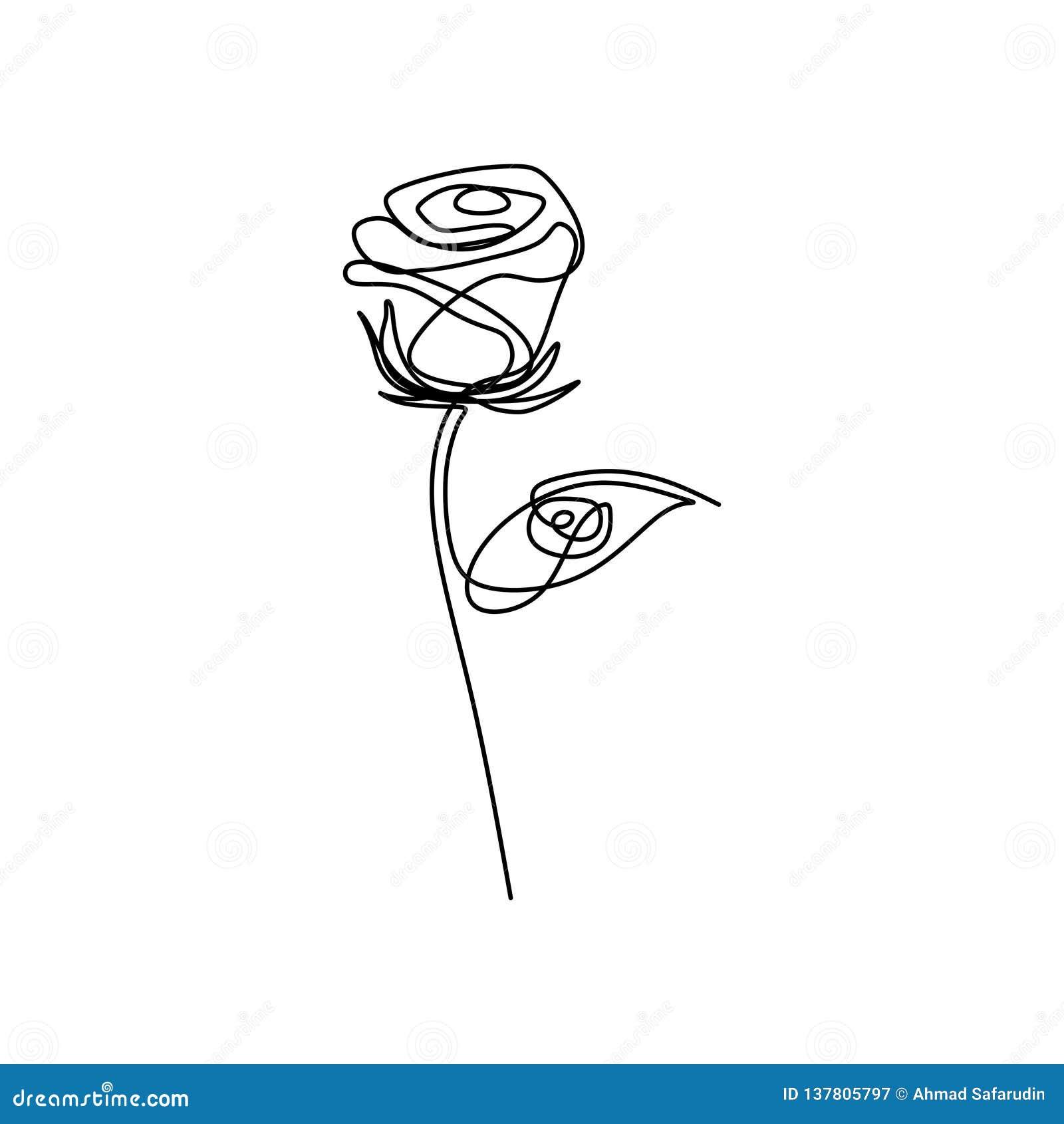 Dessin De Rose Simple