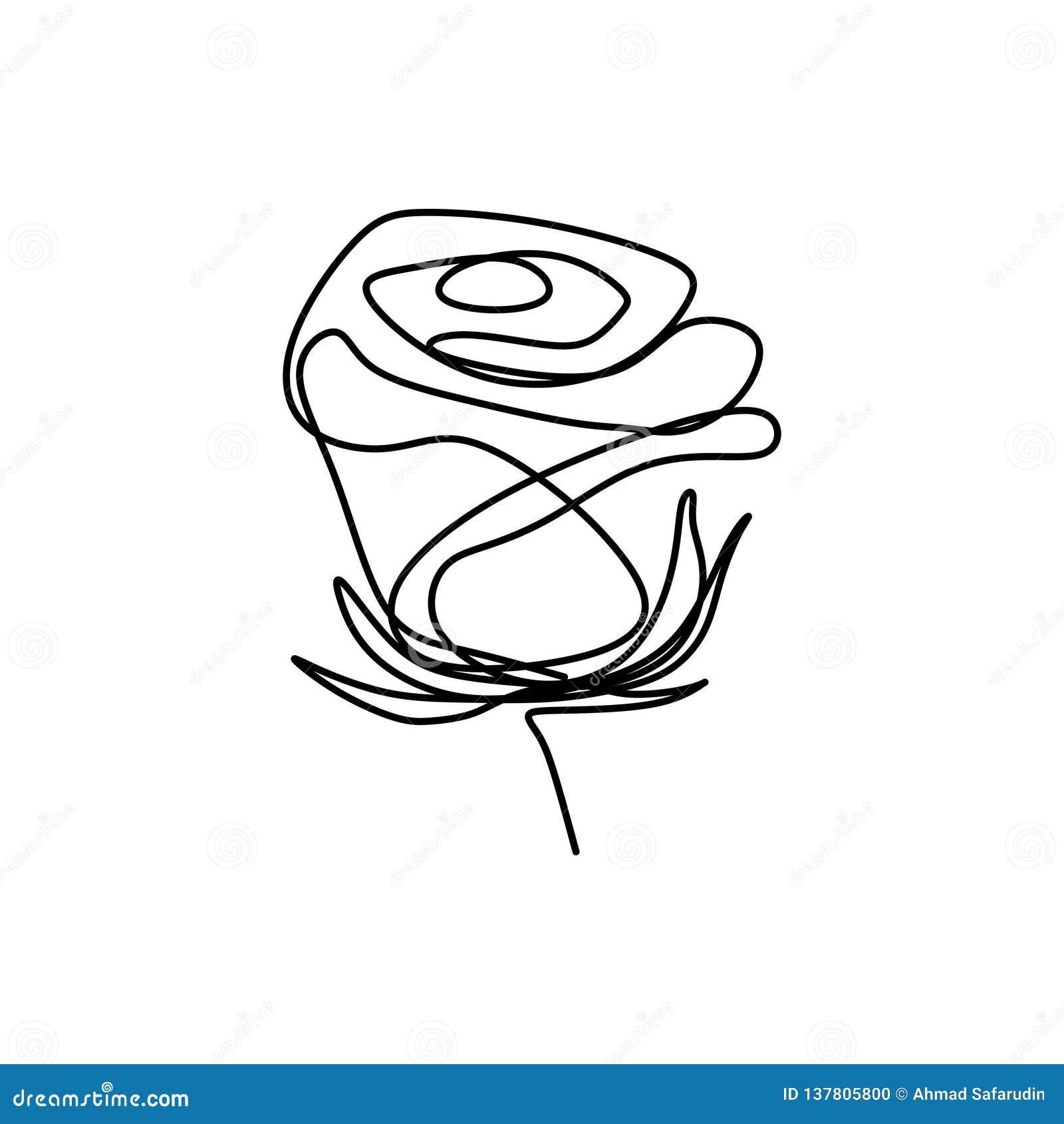 Rose Fleur Pinterest Dessin Facile