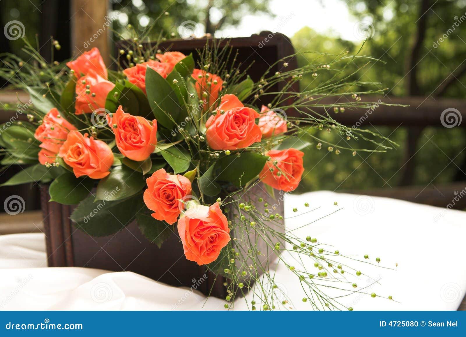 Rose Flower Arrangement Stock Photo Image Of Reception