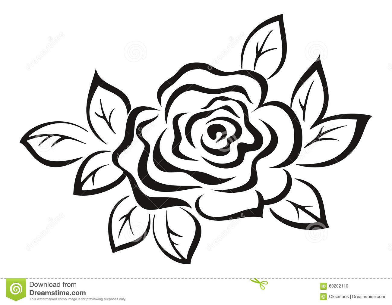 Rose Flower Black Pictogram