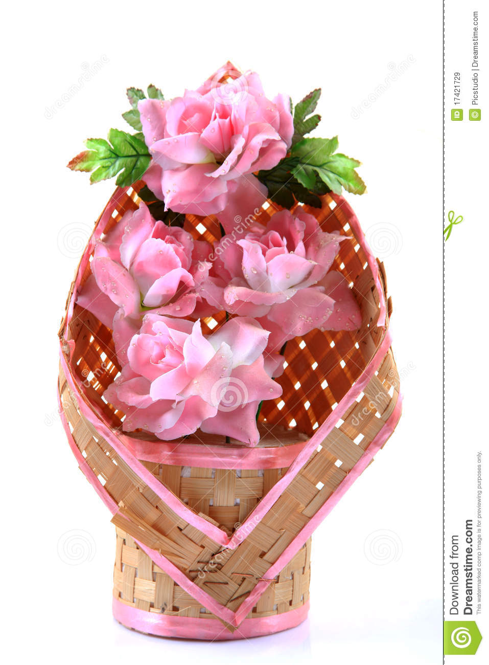 rose flower bouquet stock image. image of plant, bamboo - 17421729