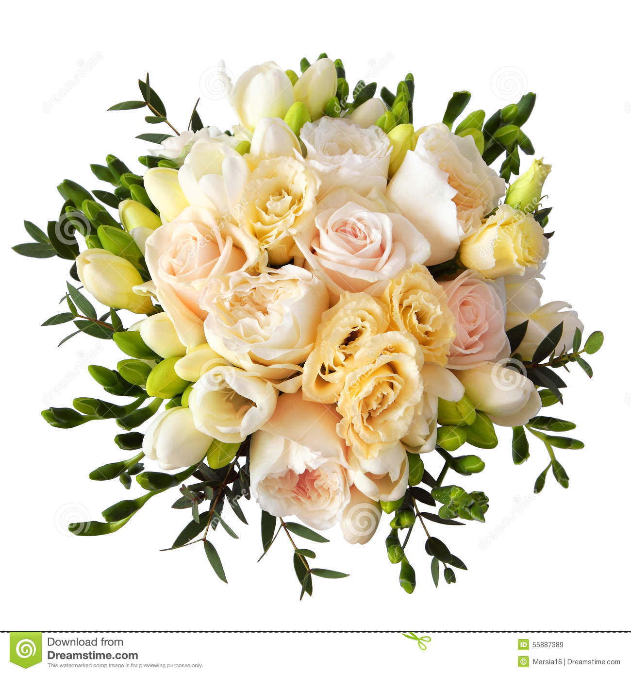 Rose flower bouquet for the bride isolated on white stock image royalty free stock photo izmirmasajfo