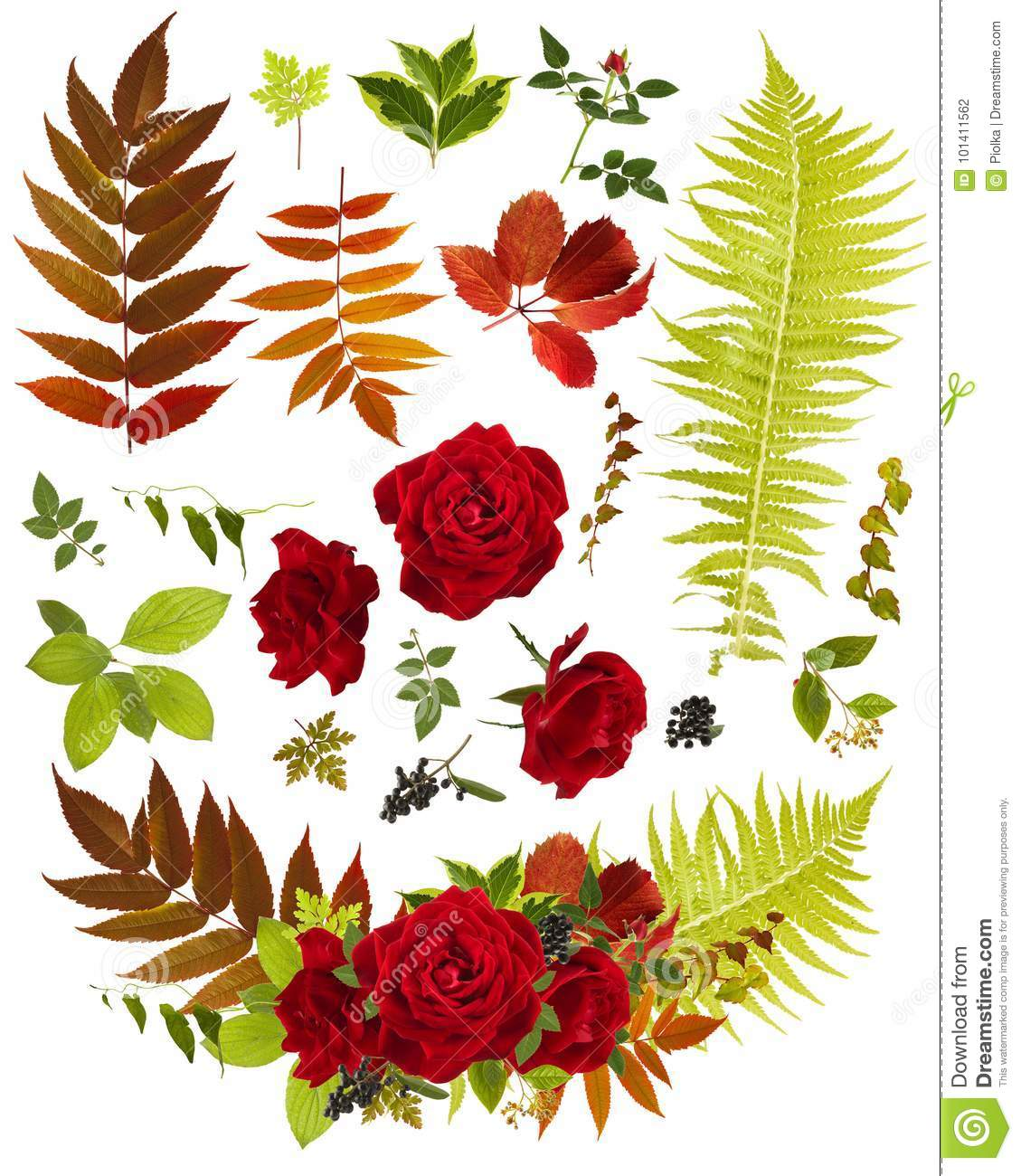 Rose flower bouquet clip art with single leaves stock photo image rose flower bouquet clip art with single leaves izmirmasajfo