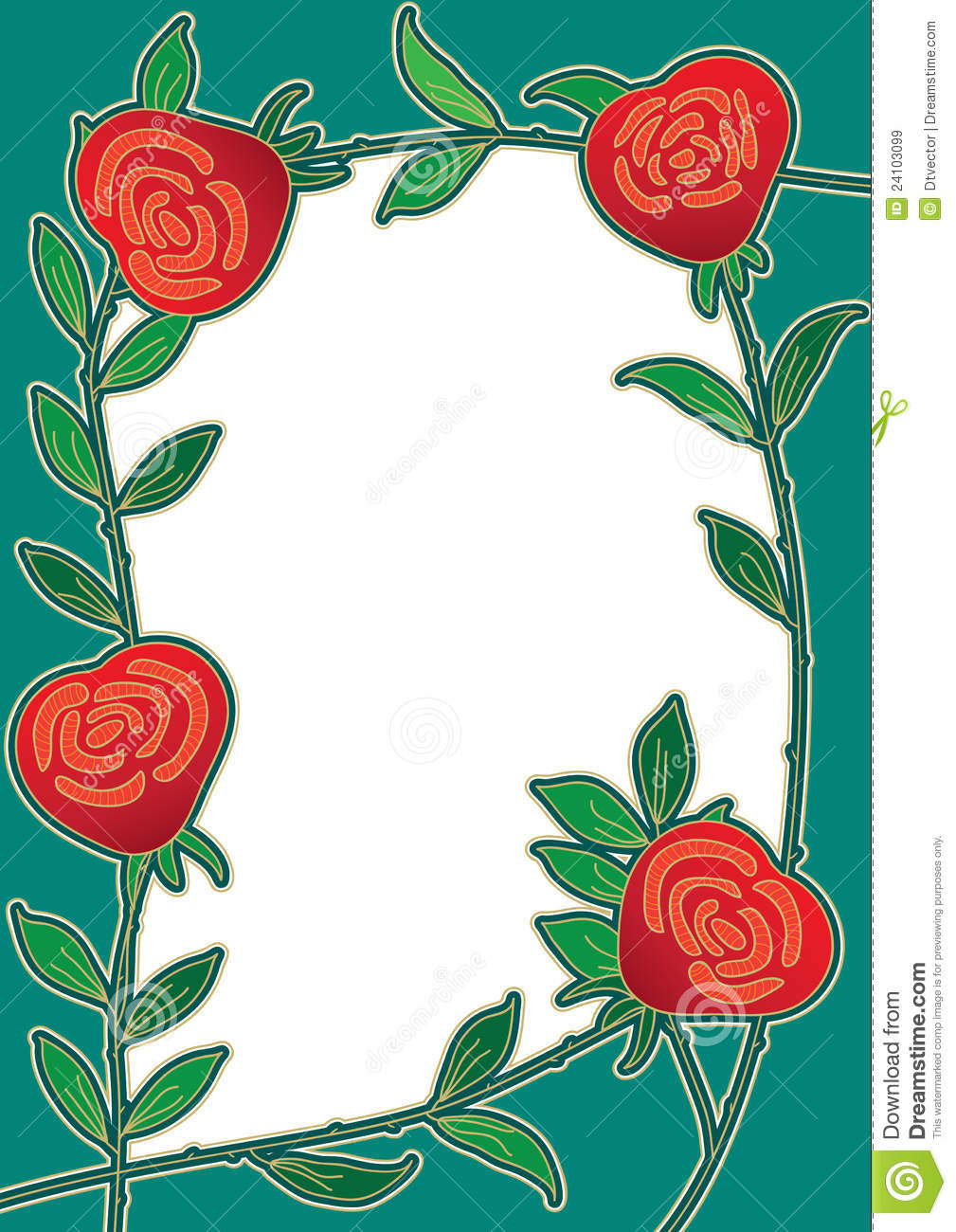 rose flower with frame composition.---This .eps file infoDocument: A4 ...