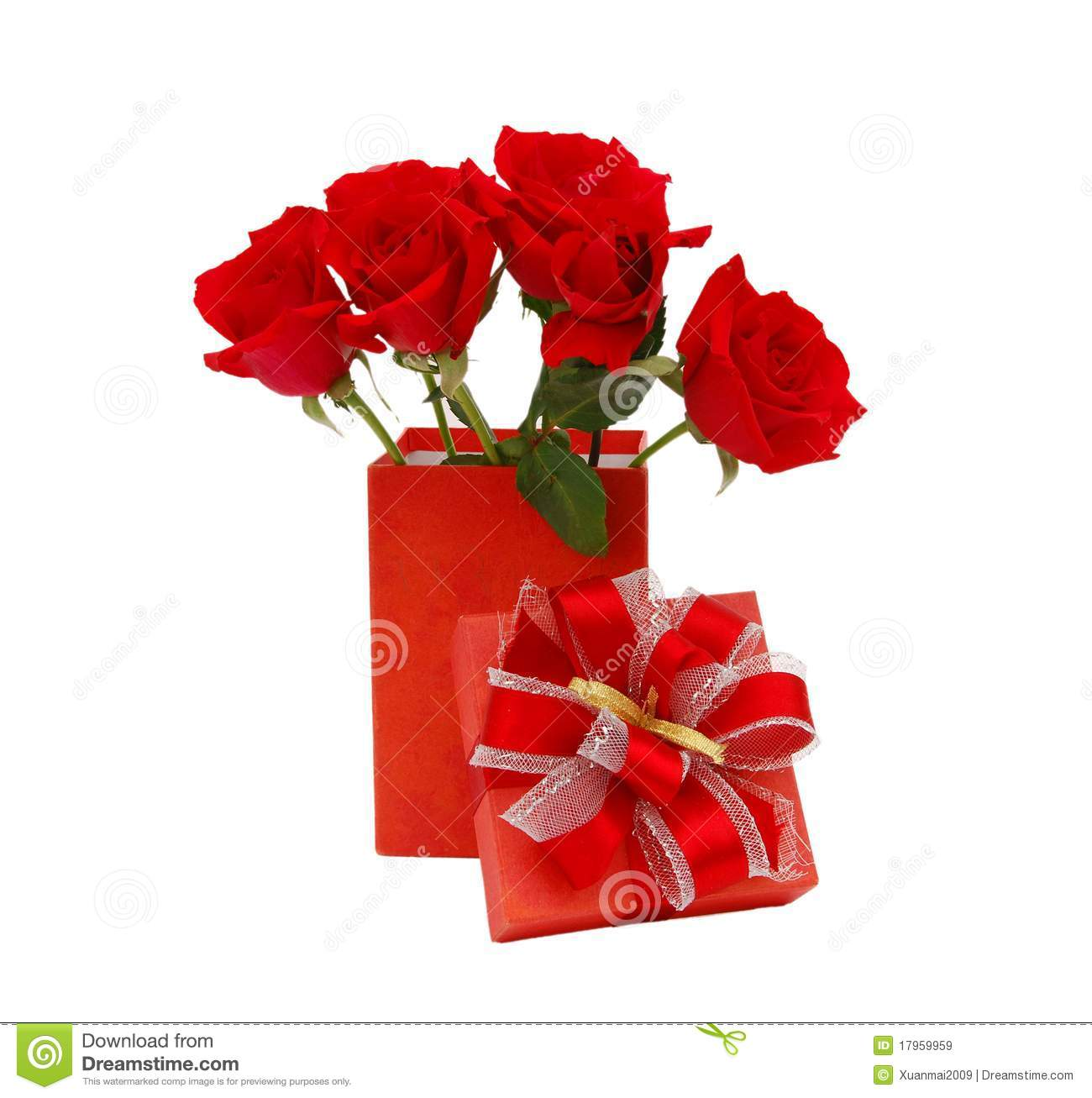 Rose Flower Gift Birthday Stock Image Image Of Florist 17959959