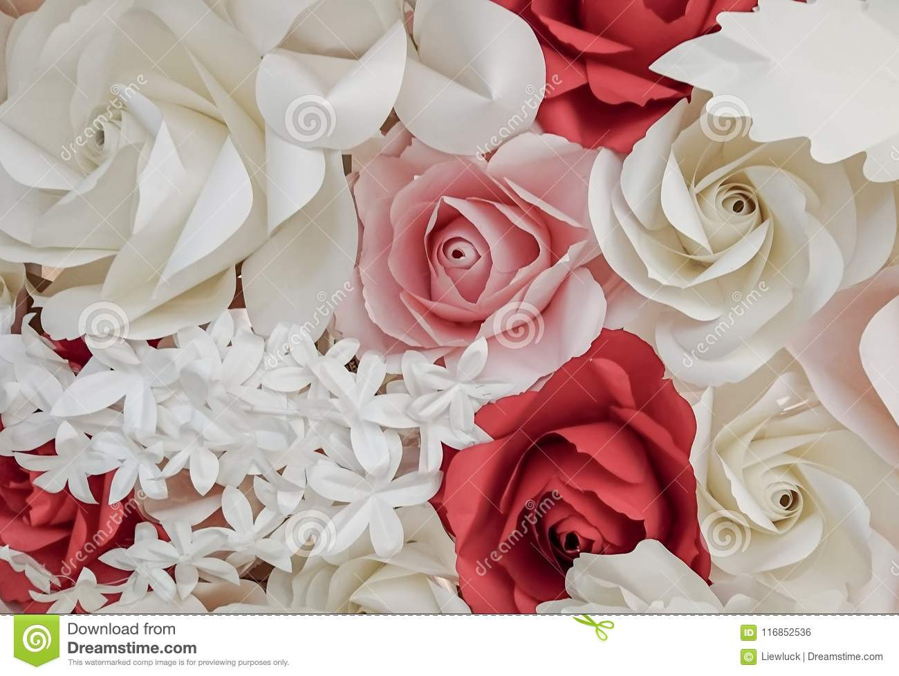 Rose Flower Make With Paper Stock Photo Image Of Flower Pattern