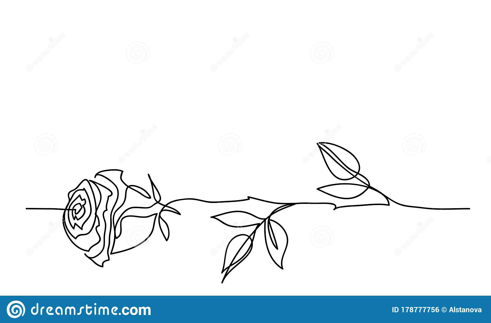 Rose Flower Minimalistic Tatoo Design  One Continuous Line