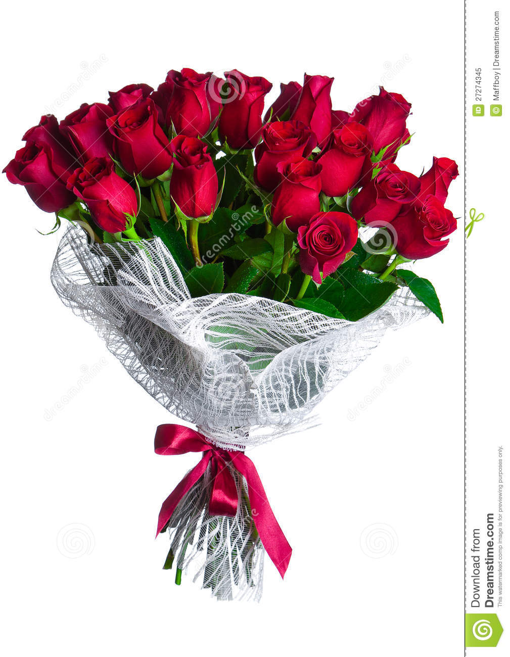 Rose Flowers Bouquet Isolated Stock Image Image Of Card Marry