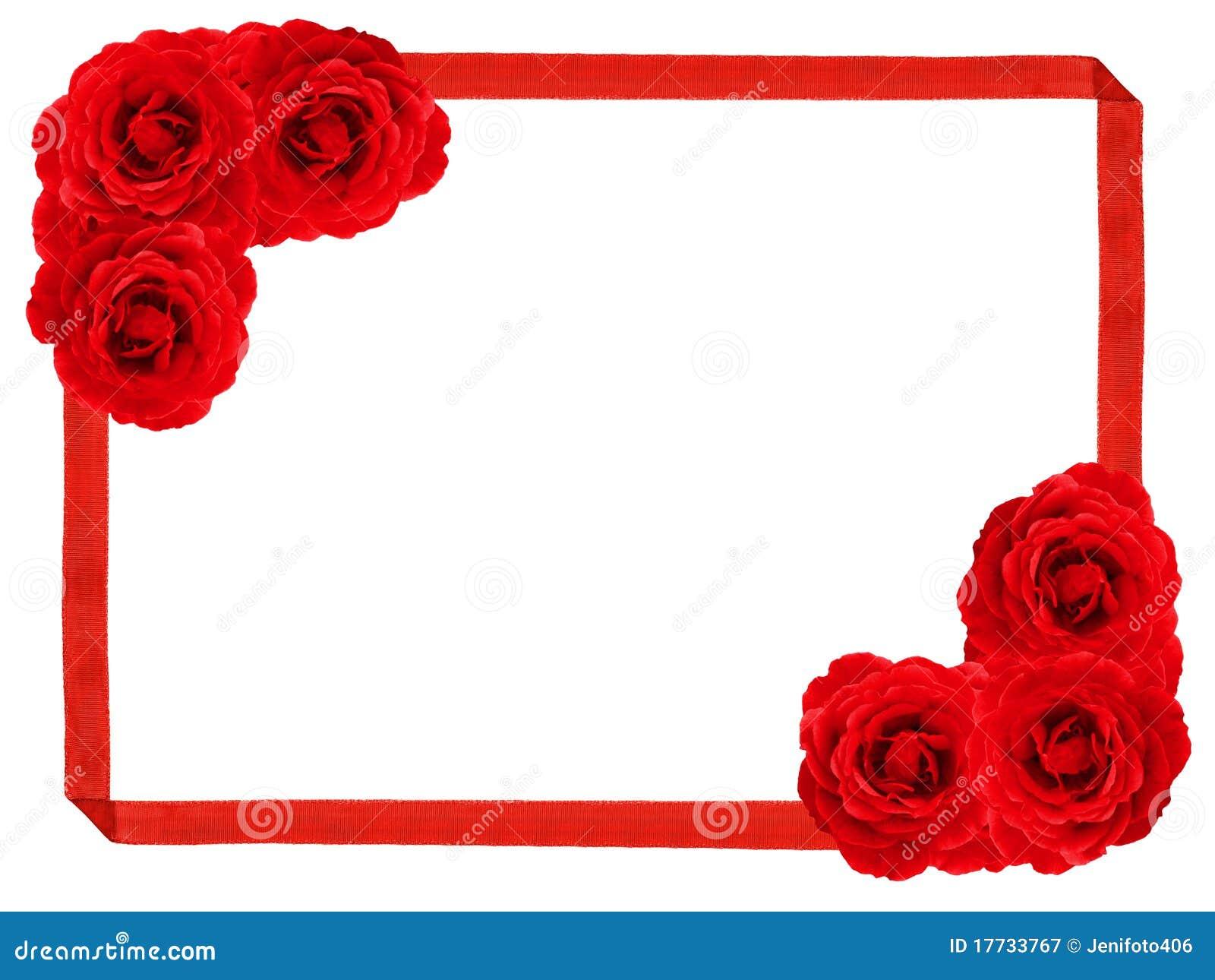 Rose frame stock image. Image of engagement, copy, floral - 17733767