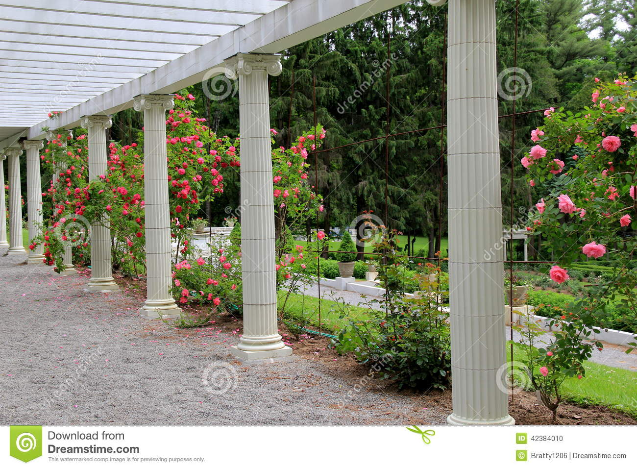 Rose Garden And Arbor With Stone PathwayYaddo GardensSaratoga