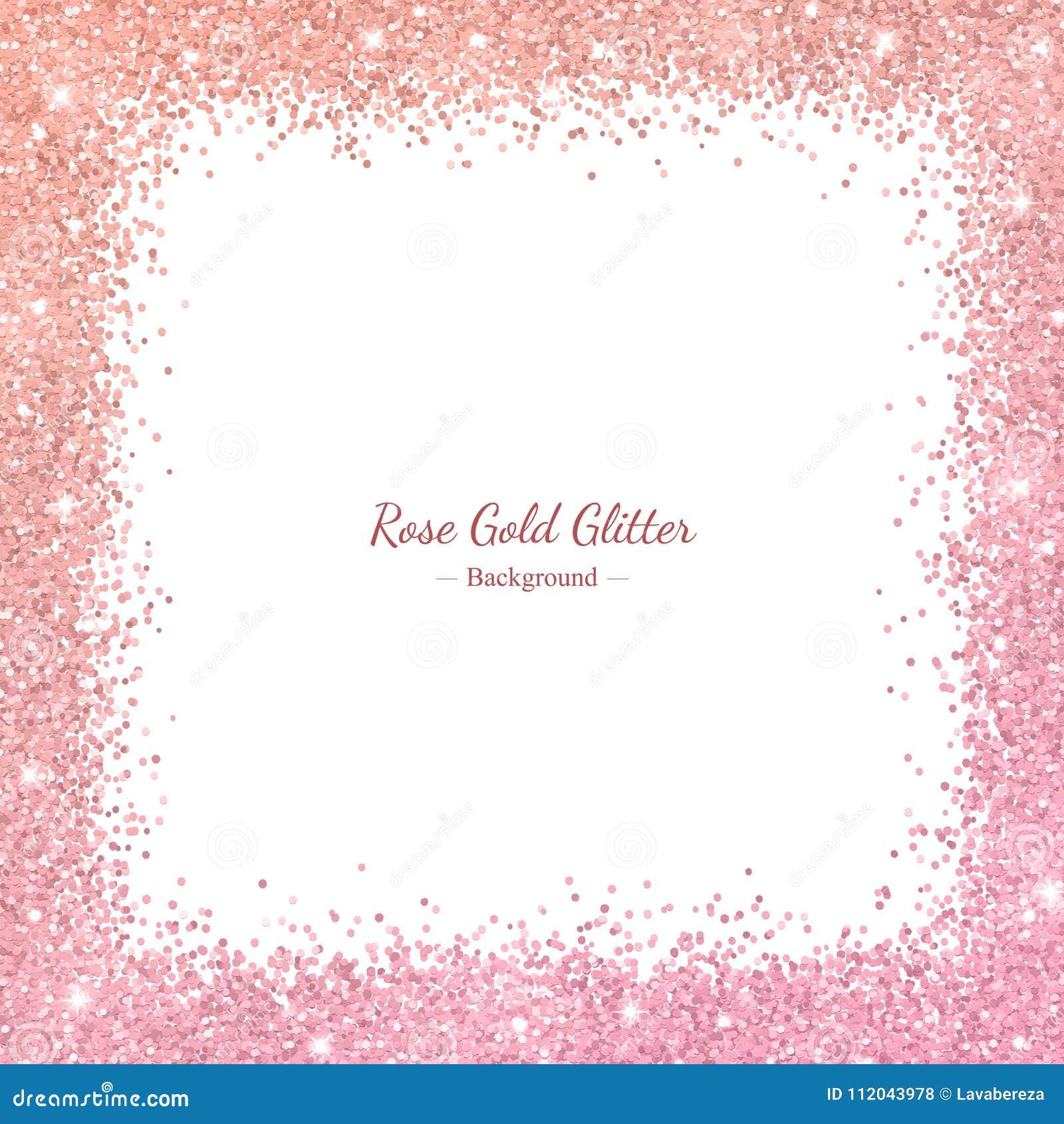 562e0f96174b Rose Gold Glitter Frame Stock Illustrations – 1