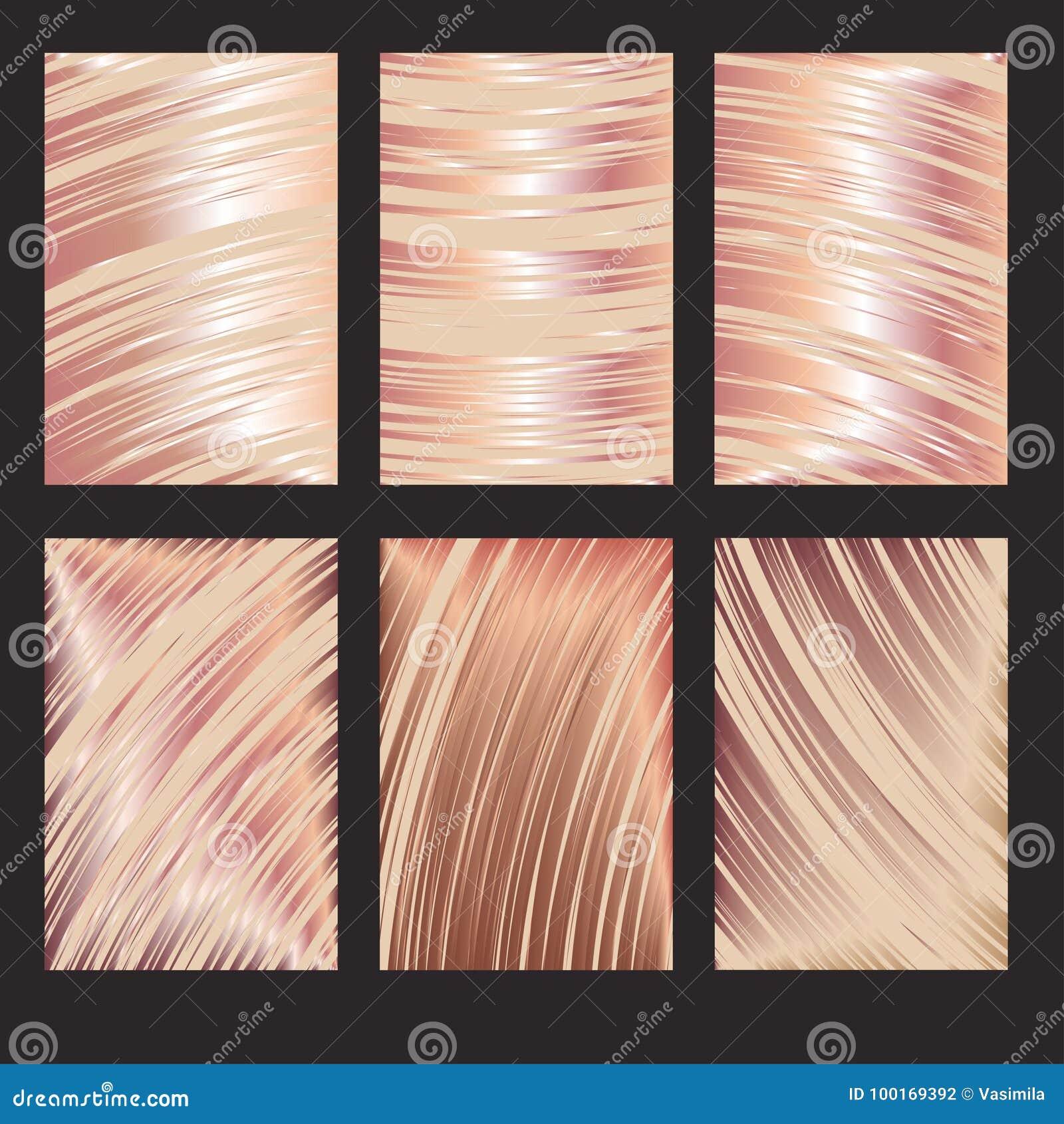 rose gold headline design stock vector illustration of metal
