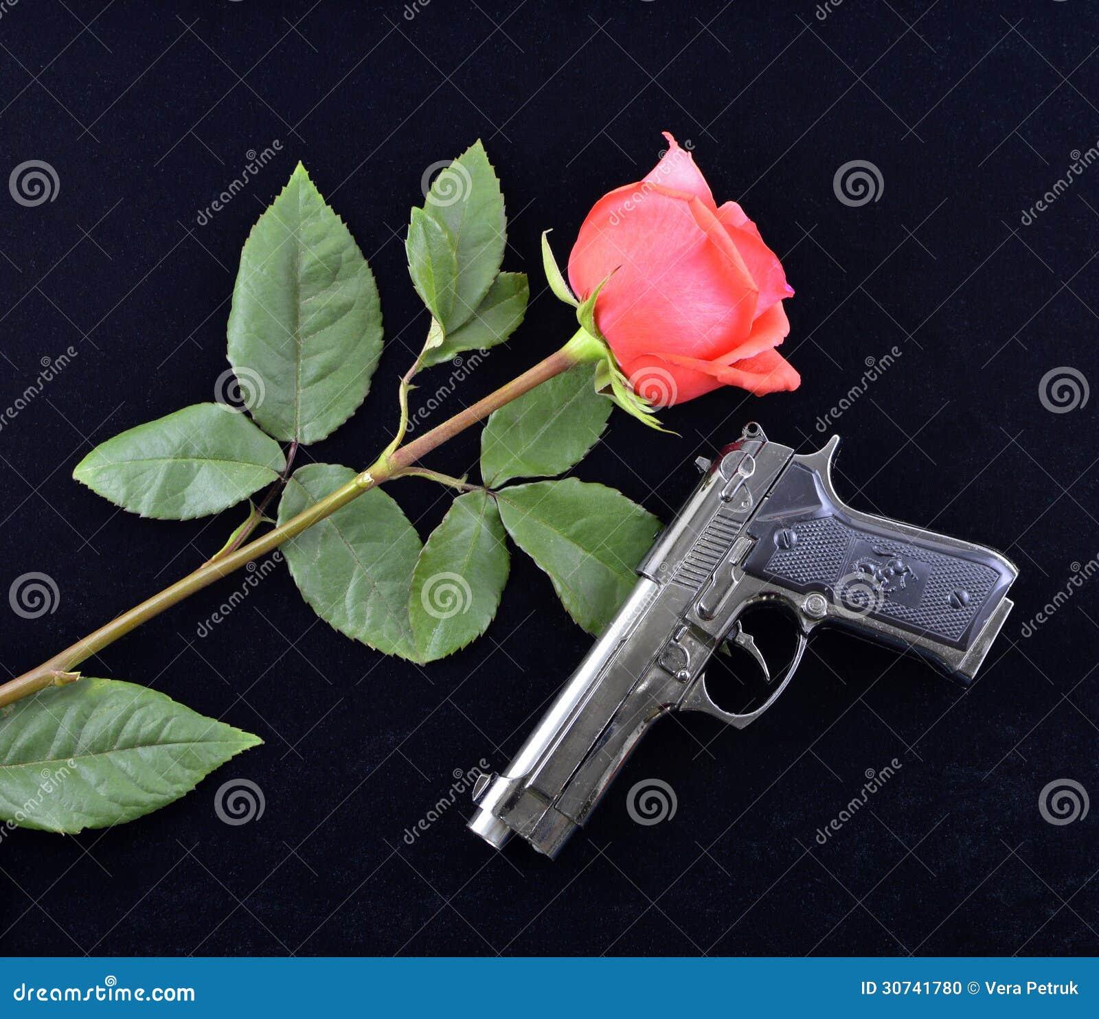 Rose and gun