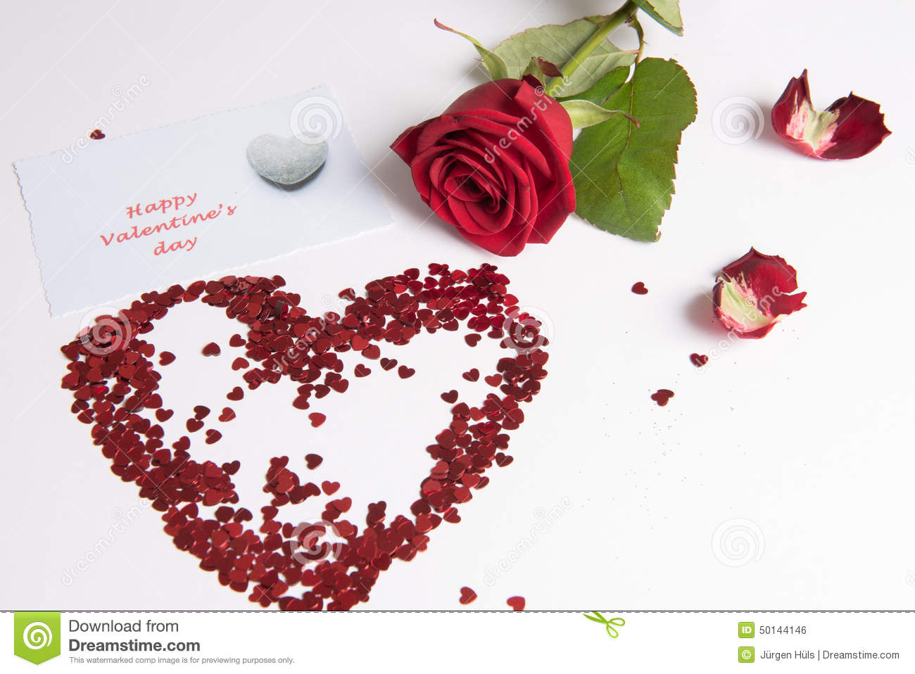 Rose And Heart Of Hearts As Love Sign Stock Photo Image Of Present